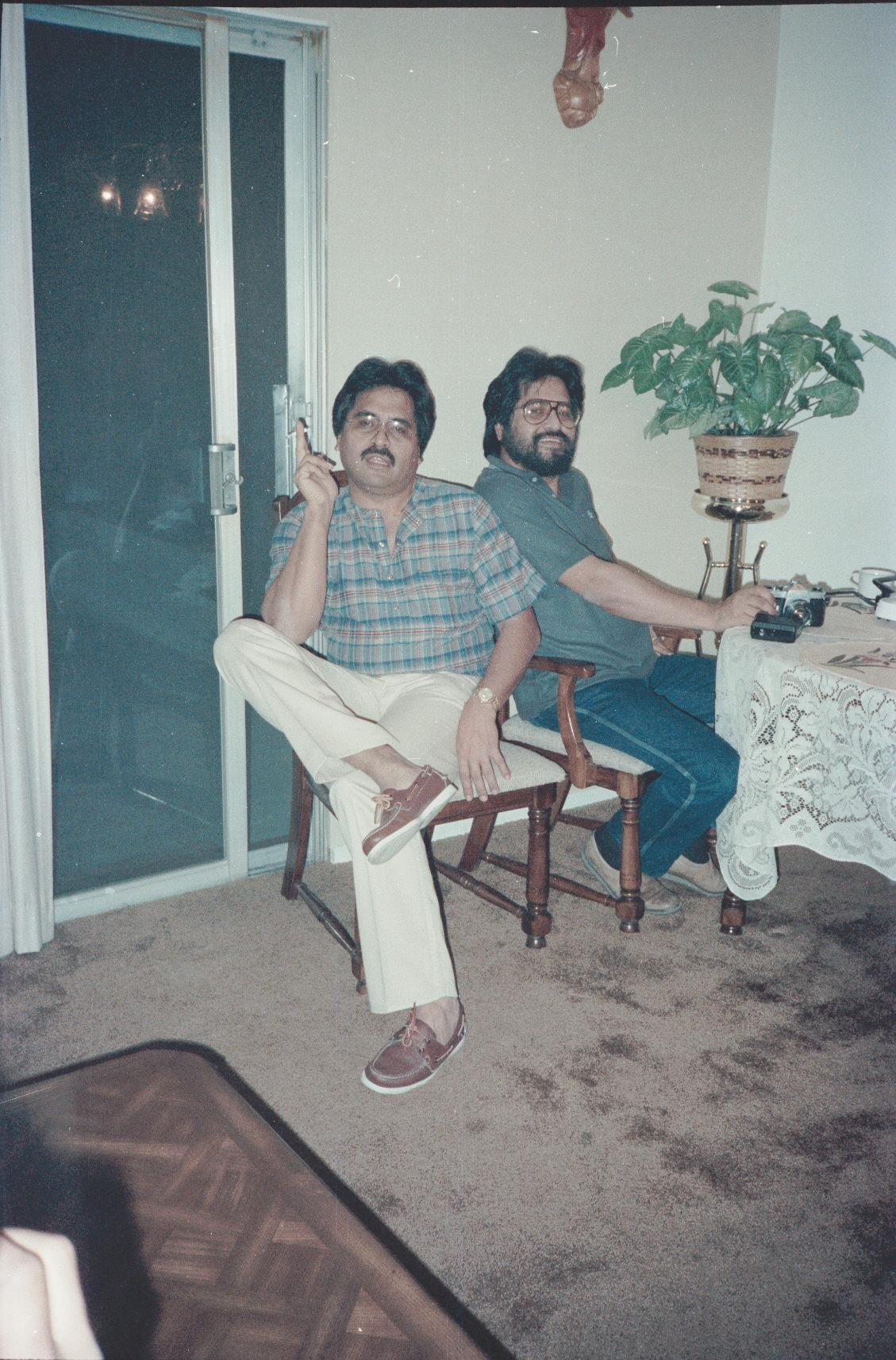 Uncle Johnny and Frank (my Dad) diagnosed with Lupus in their late 40's.