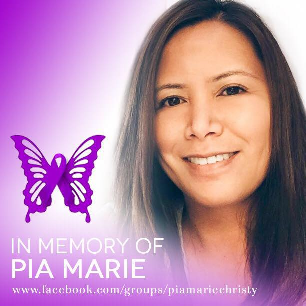 Leaving behind her husband Joe Christy and her son Jared, who was only 2 weeks from turning 18 years old, Pia passed away on April 5, 2016.