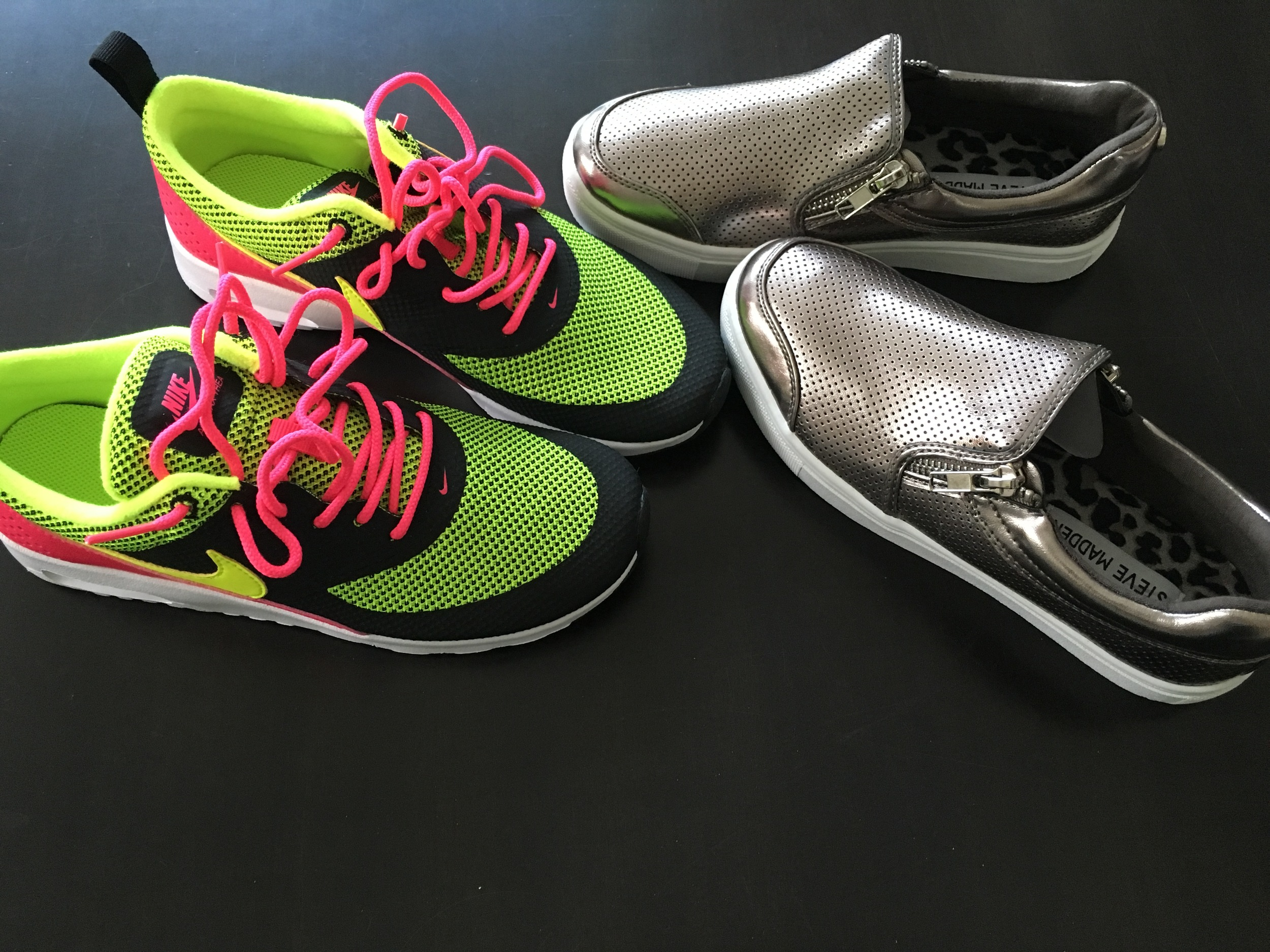 1 pair of tennis shoes for P.E. and the other pair for the rest of her wardrobe. We had to order her  back pack  off of Amazon because Target would have been too easy for me.