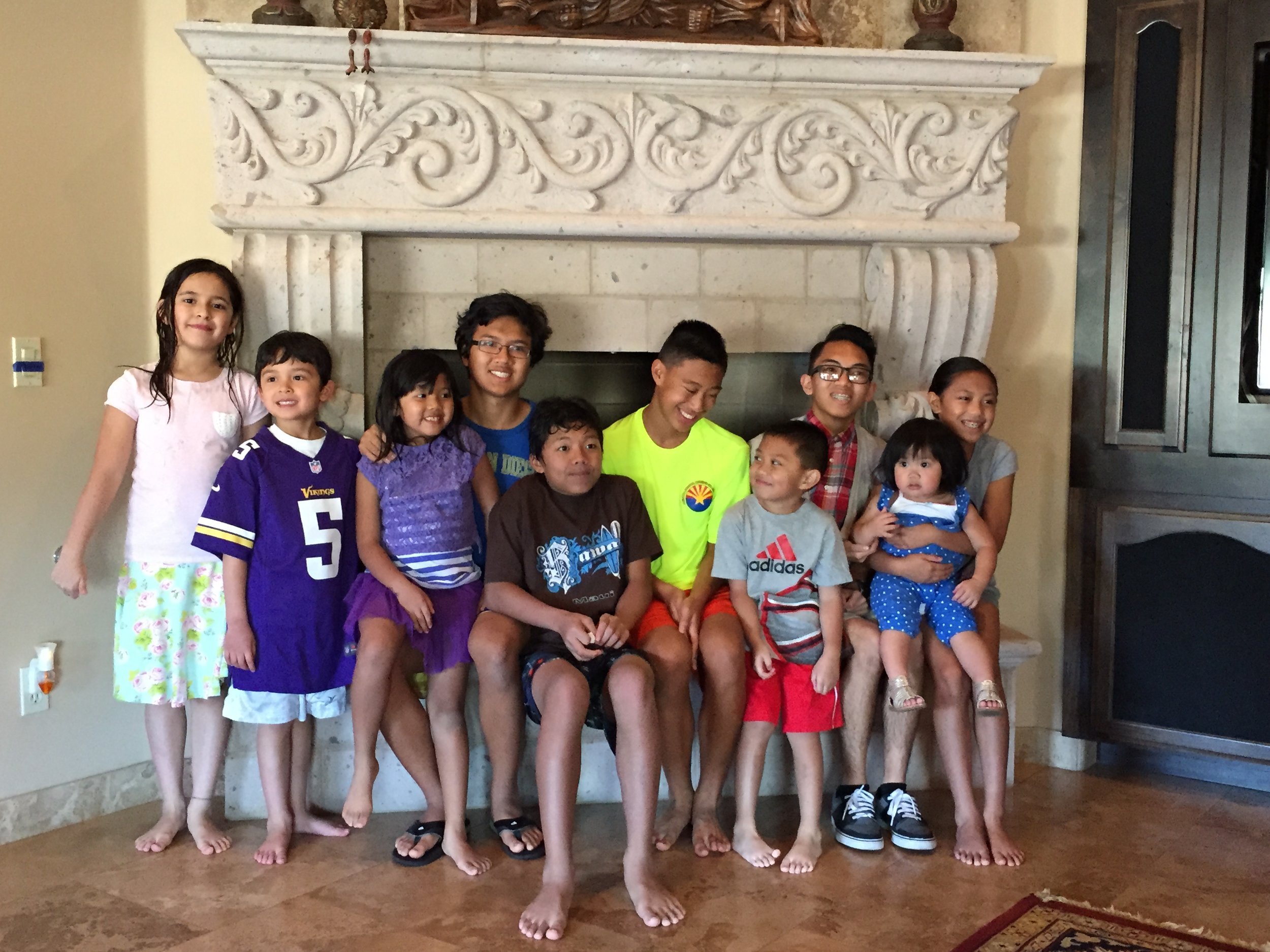 Instagram Message: Bella & Beau in AZ April 2015. Some of Tita Debbie's grandchildren.