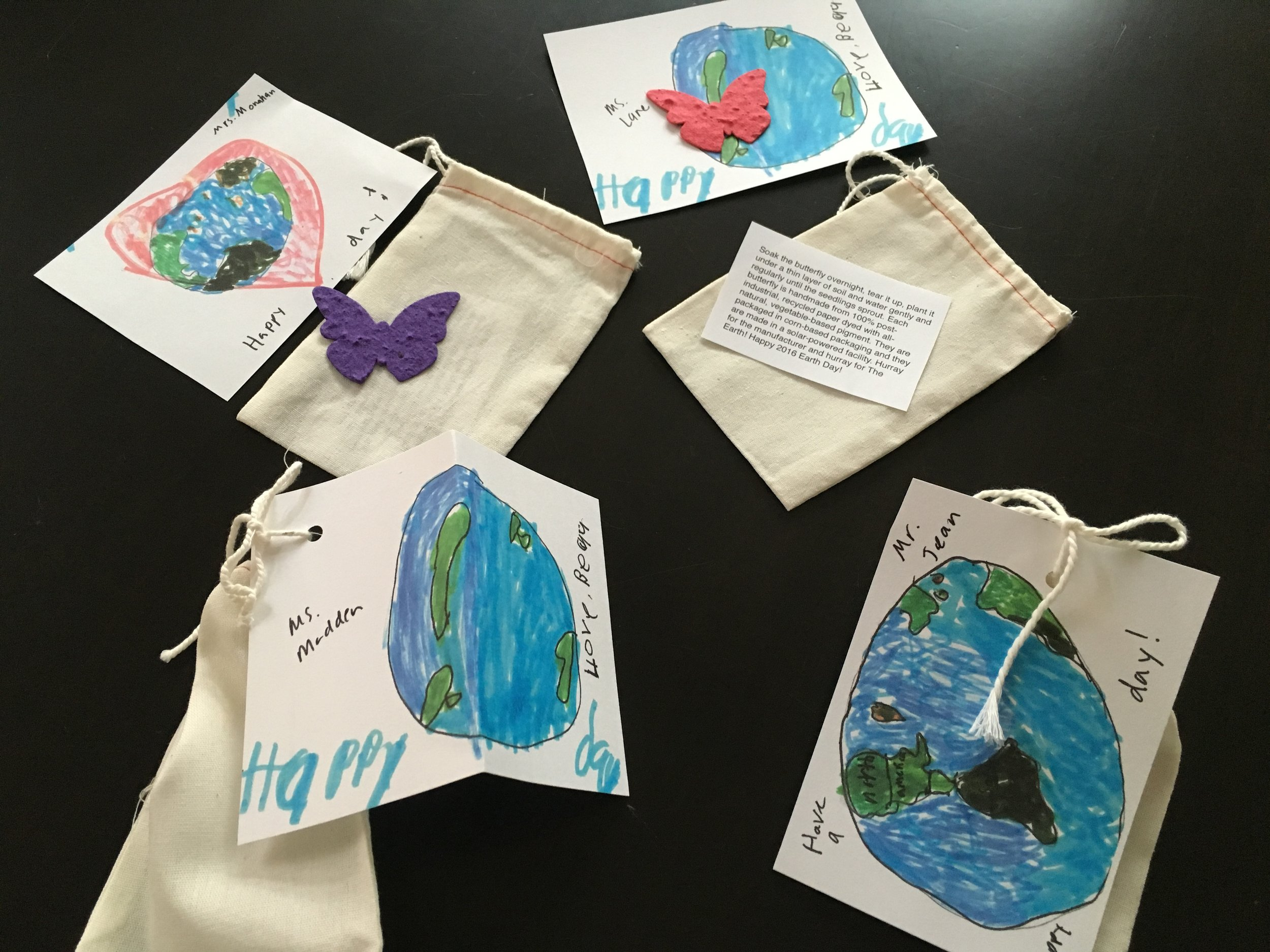 April 22 Instagram Message: Butterfly seed paper Thoughtful Pinches for Earth Day.