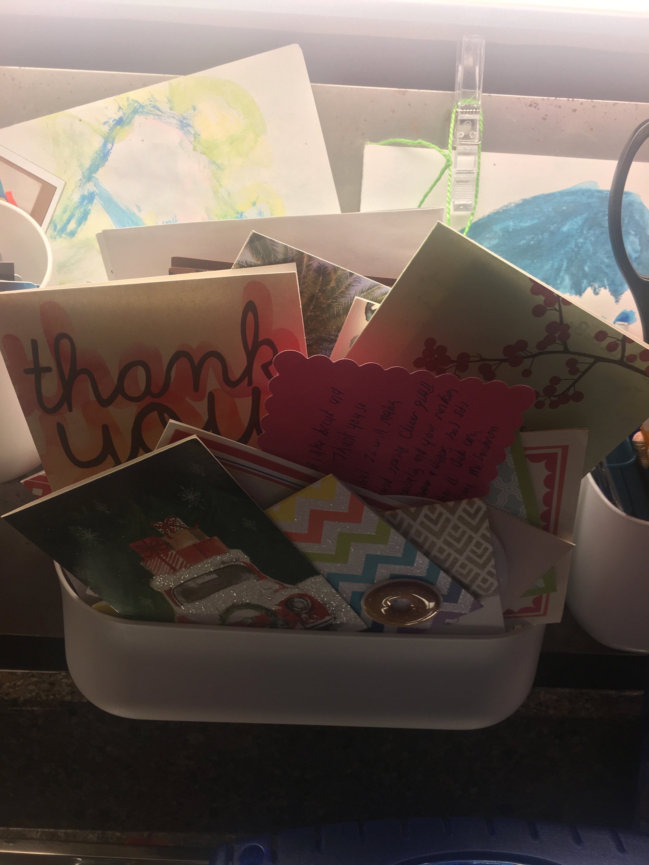 Here's our 2016 Thank You bin above Viking, the fish's, Aquarium. See a past blog I wrote about this  here .