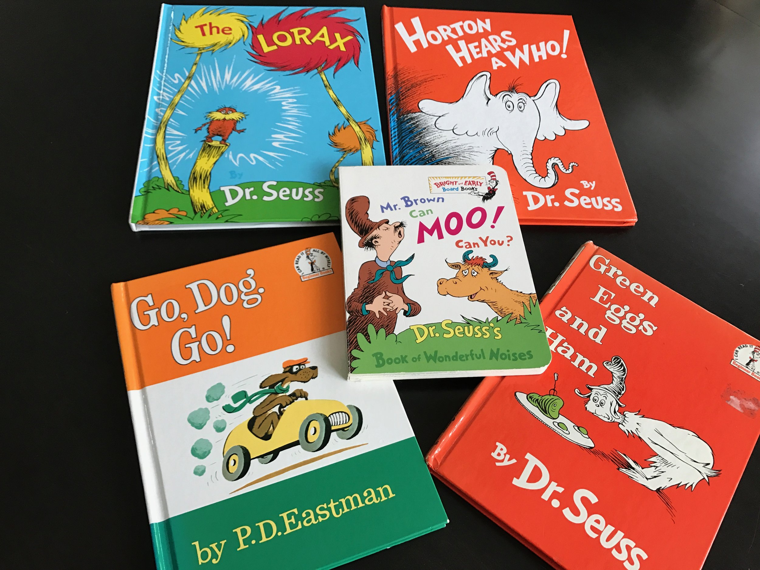 Here are the favorites in our home library. Also, click on the websites that I enjoyed learning About Dr. Seuss.  Wikipedia and  99 Dr. Seuss Quotes .