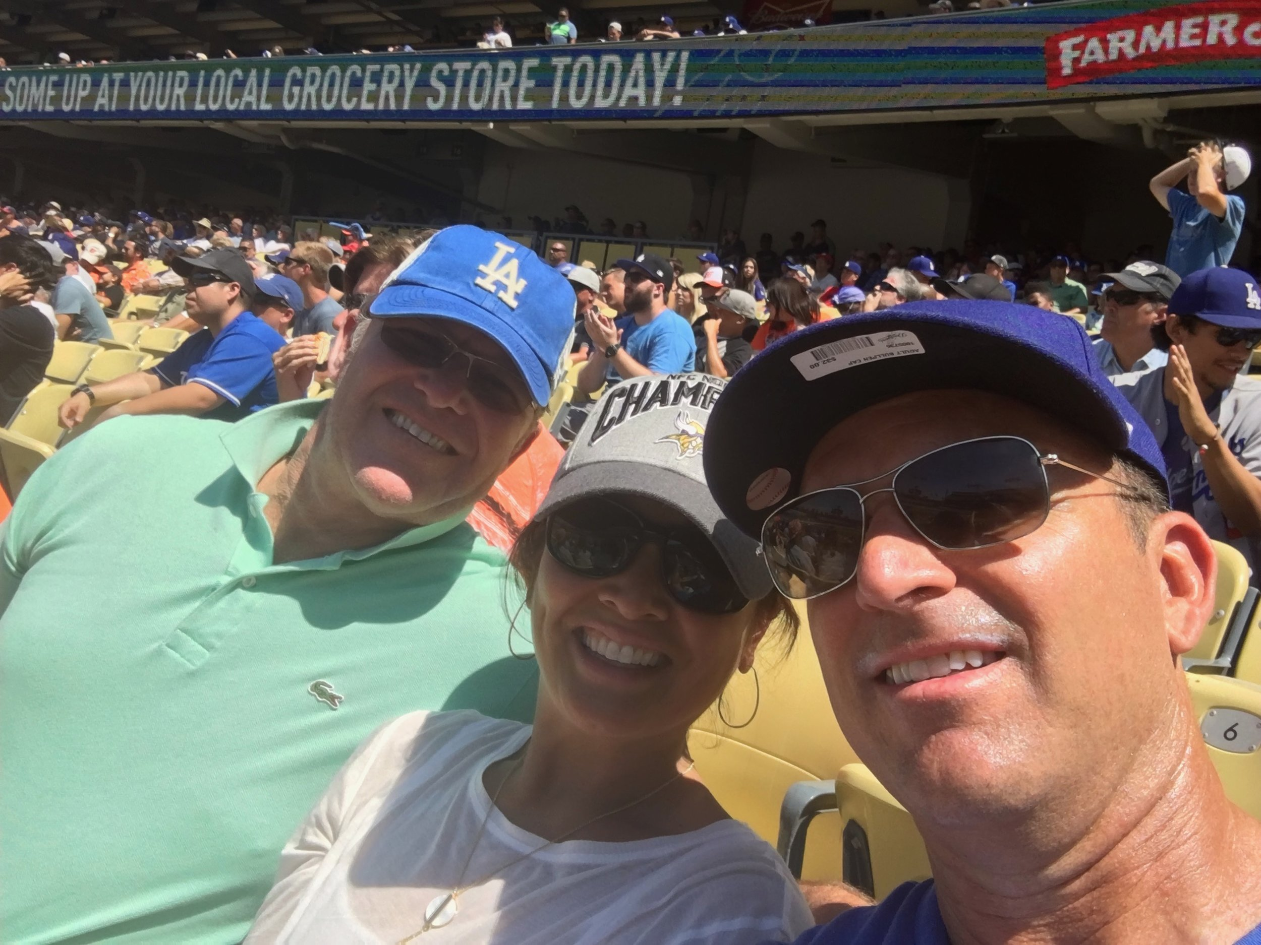We're at the Dodger game with Johnny!