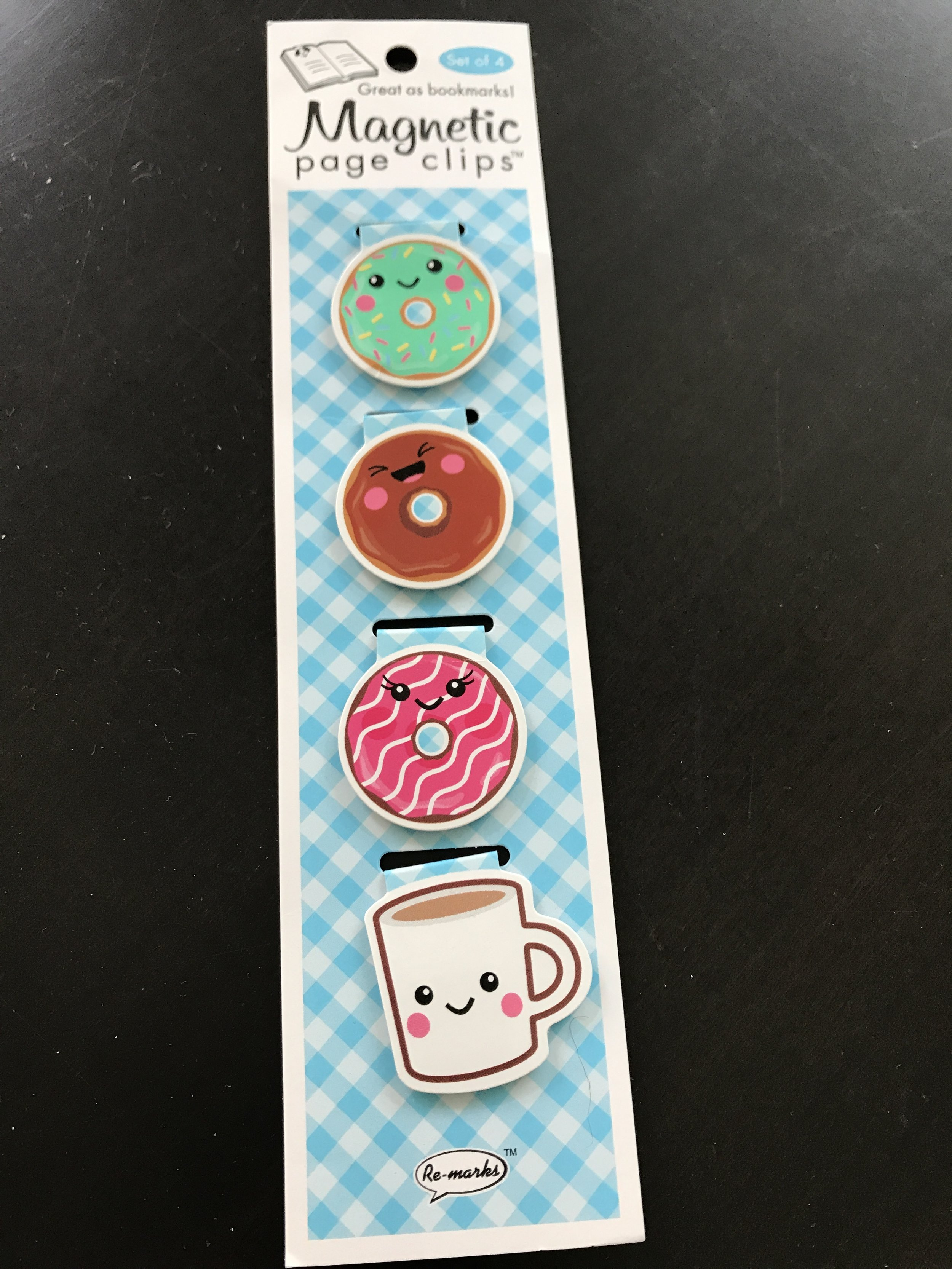 Donut themed book markers for the reader in your life that needs a  pinch . Thanks Auntie Jay-Jay!
