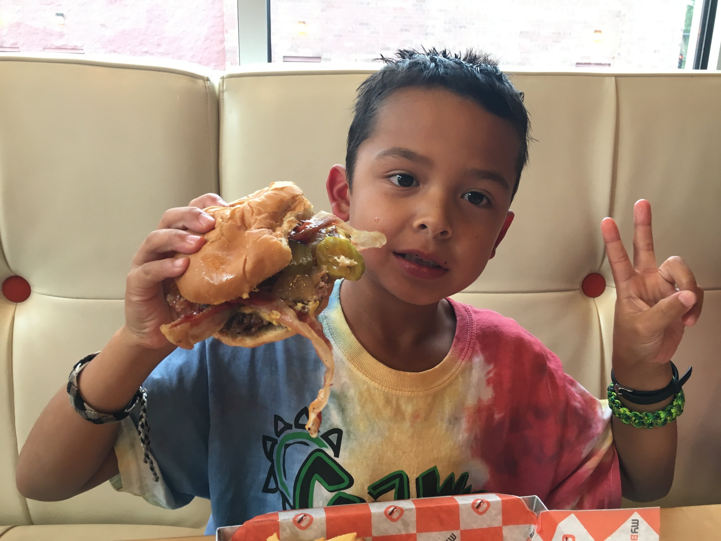 Instagram Message: His favorite food. Hamburger Day is Sunday, May 28th. Read the blog.