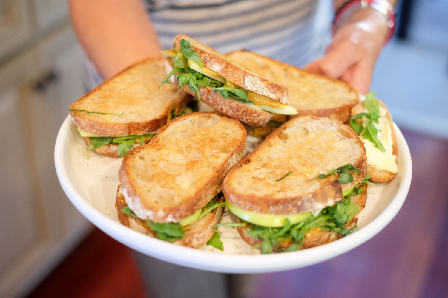Now if I was a food blogger I would need to hire a professional photographer, like my brother Tom, to keep these pictures rolling every week. And Pinterest would be a top platform. This photo did these sandwiches some justice!