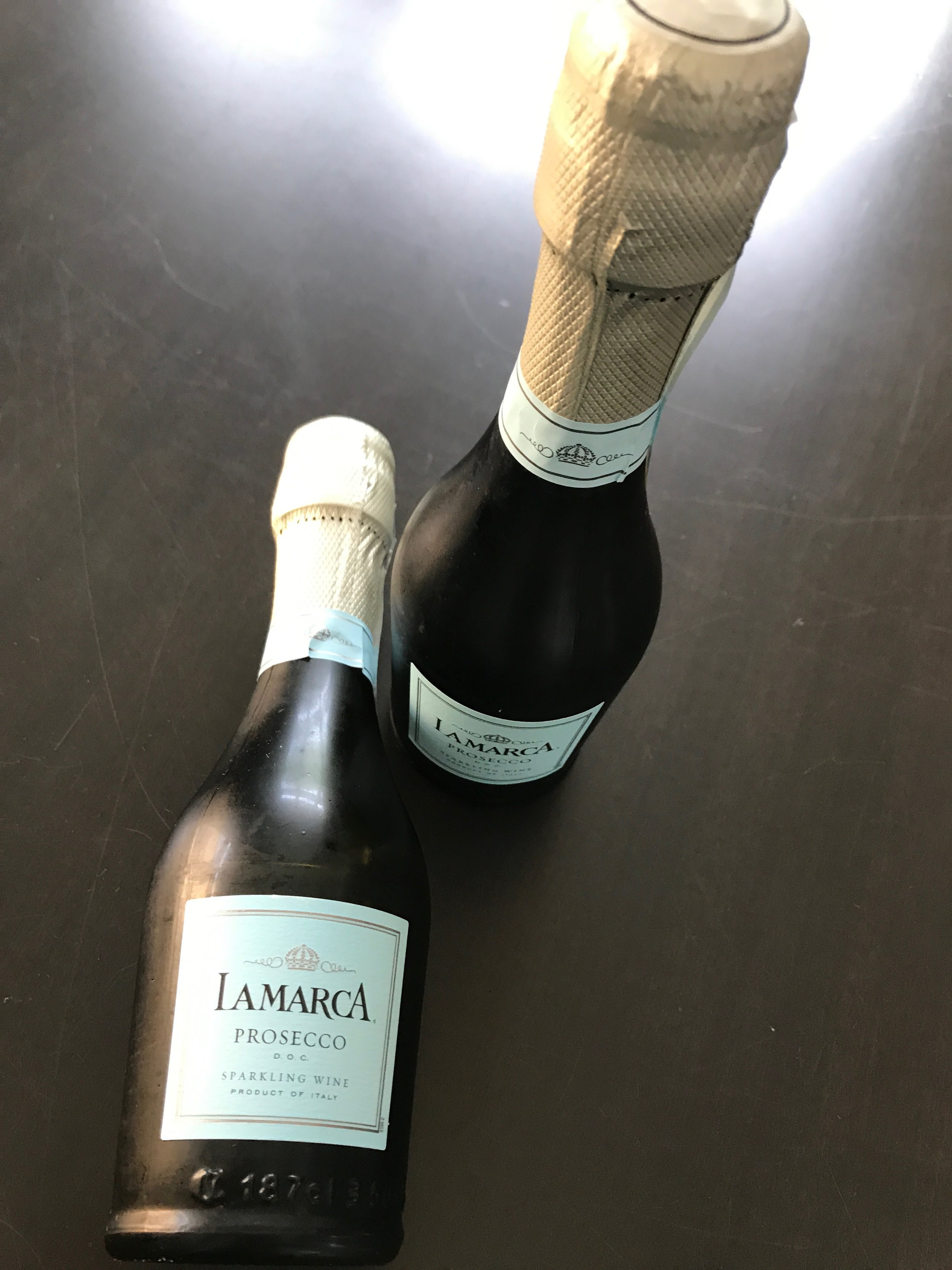 Since I learned about the Prosecco tip at a wine tasting event (look for more on this event in a future post), I decided single serving bottles are better for me. Opening up a full bottle doesn't make sense unless I'm going to be with friends. This size bottles are sold at Target for $4.99.