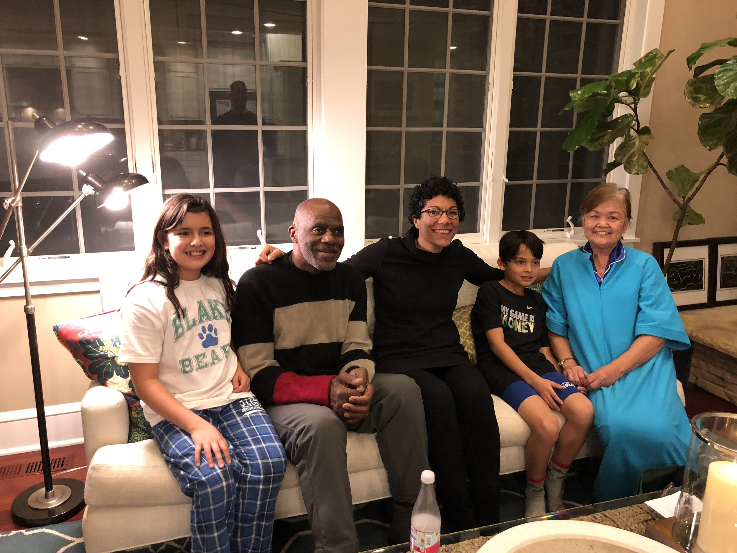 Bedtime Stories with Alan Page and Kamie Page. Most of the adults were there because they are fans of Alan Page. I was more honored to have Kamie Page sitting in my living room! She's the real star of the family!!