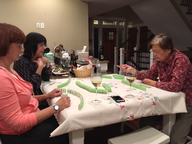 Mahjong Tip: Wine always helps to relax new students.