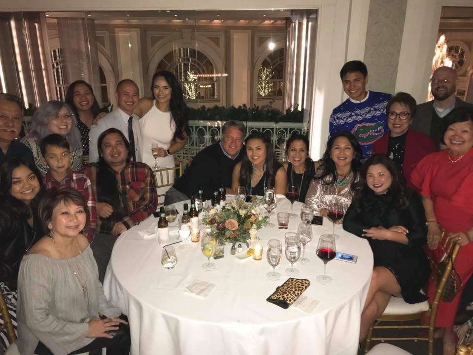 Pellicers at the Rehearsal Dinner 12/15/17.