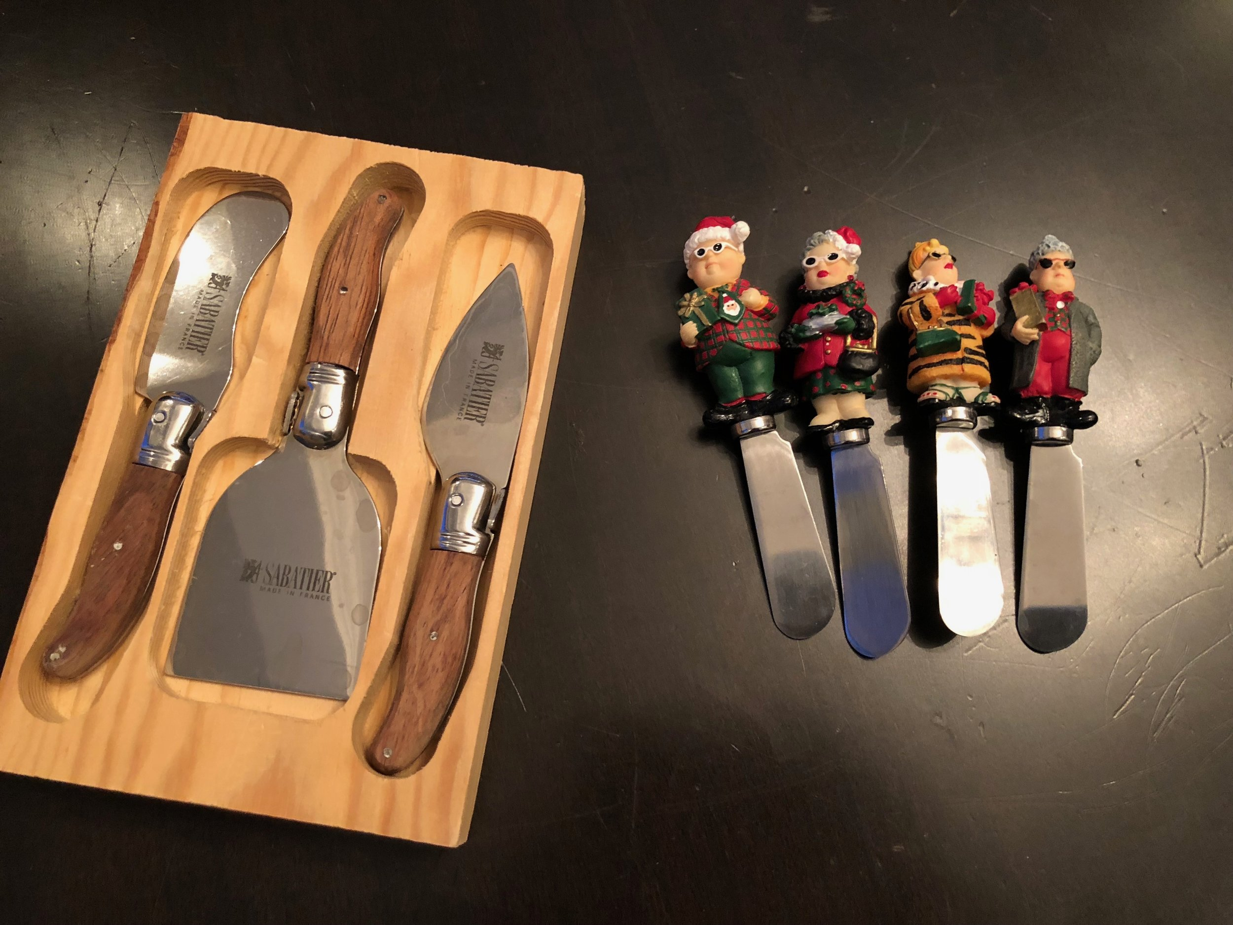 Choose some serious cheese cutters or crazy, fun spreaders.