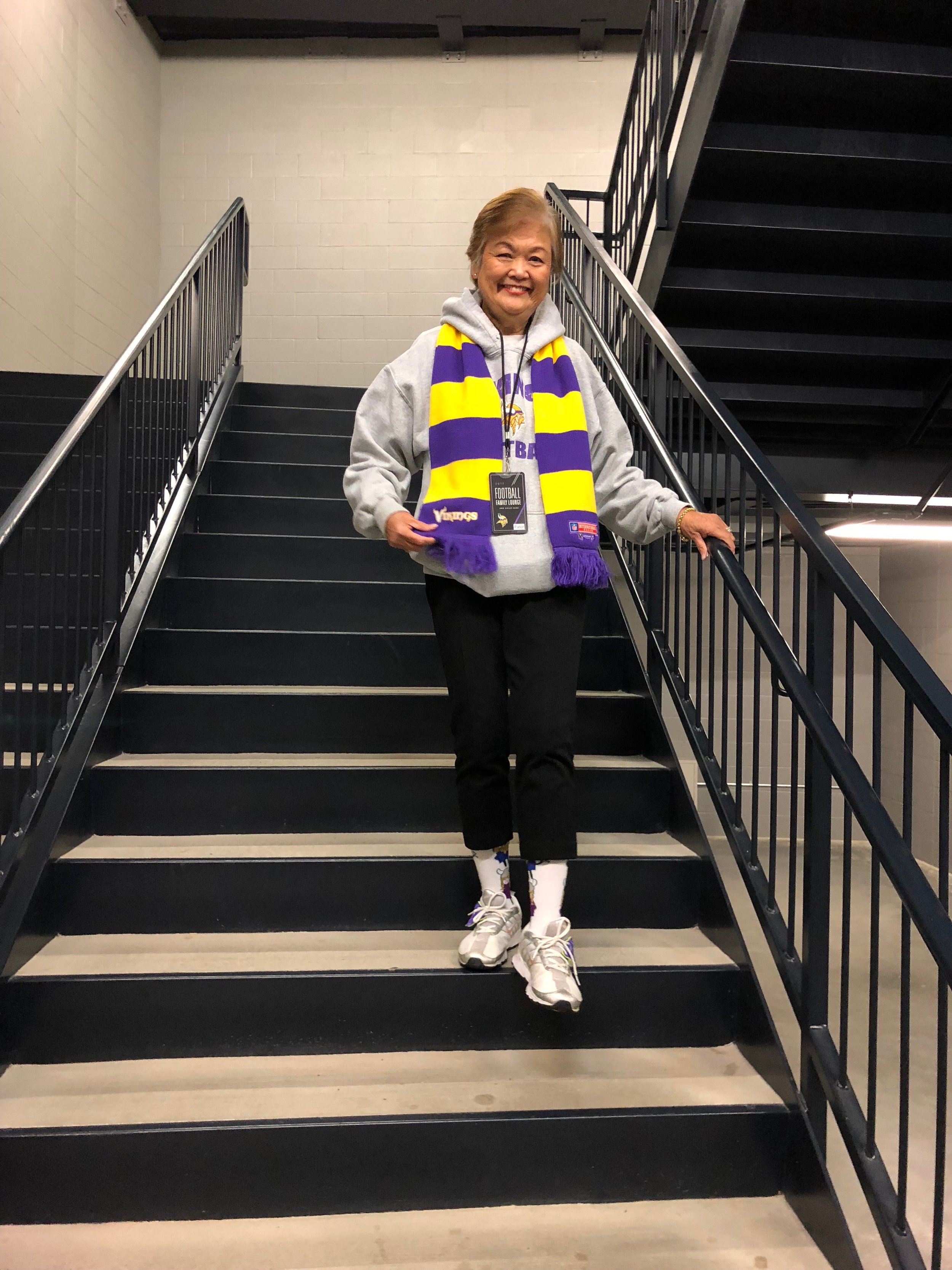 Mom will wear this outfit for the game on a Sunday and wear it until Wednesday morning. She'll start a new outfit Wednesday morning after a nice long shower.