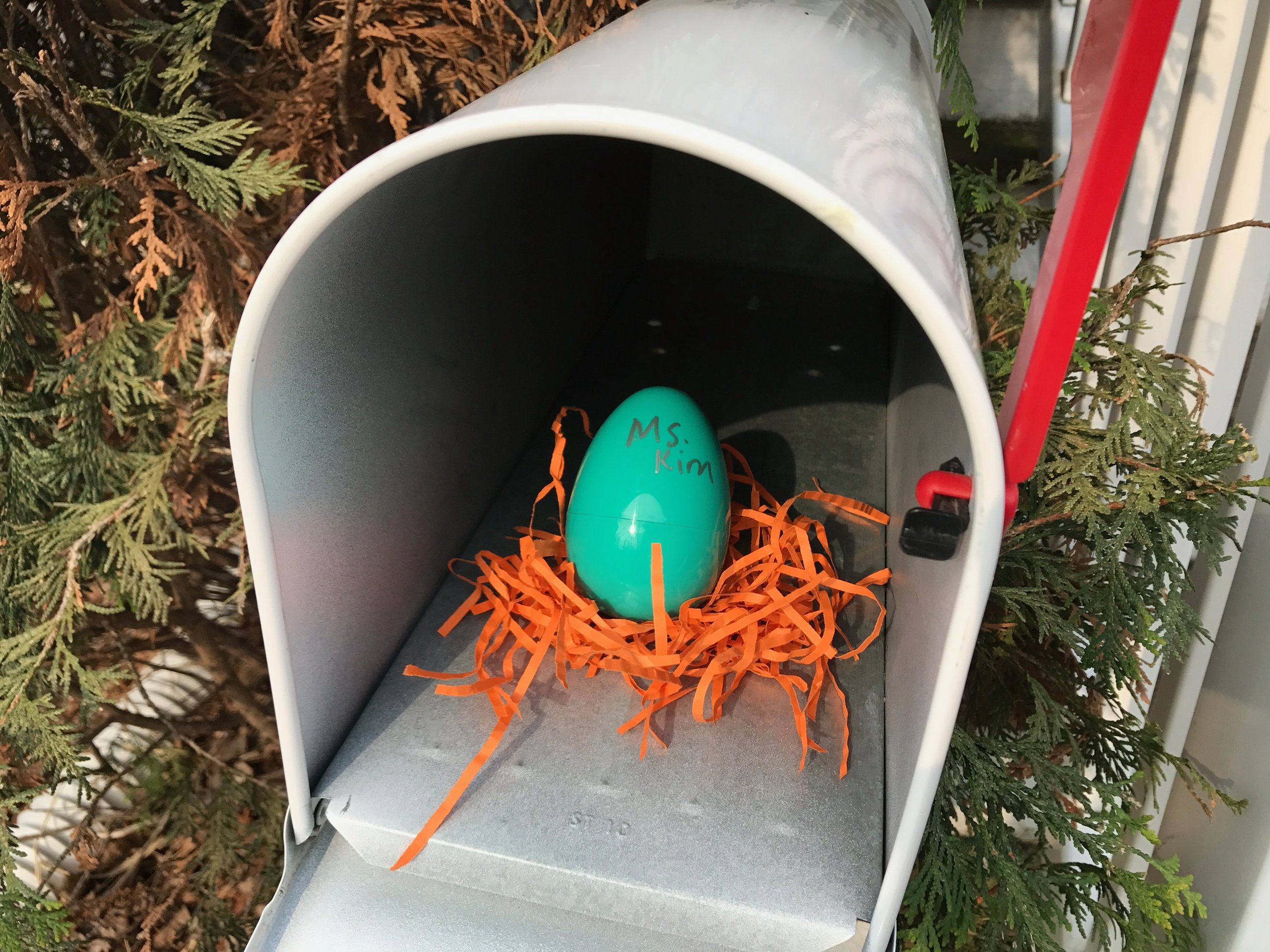 One Easter,I gave Ms. Kim a   Thoughtful Pinch  . She wrote a note the very next time mail was delivered!