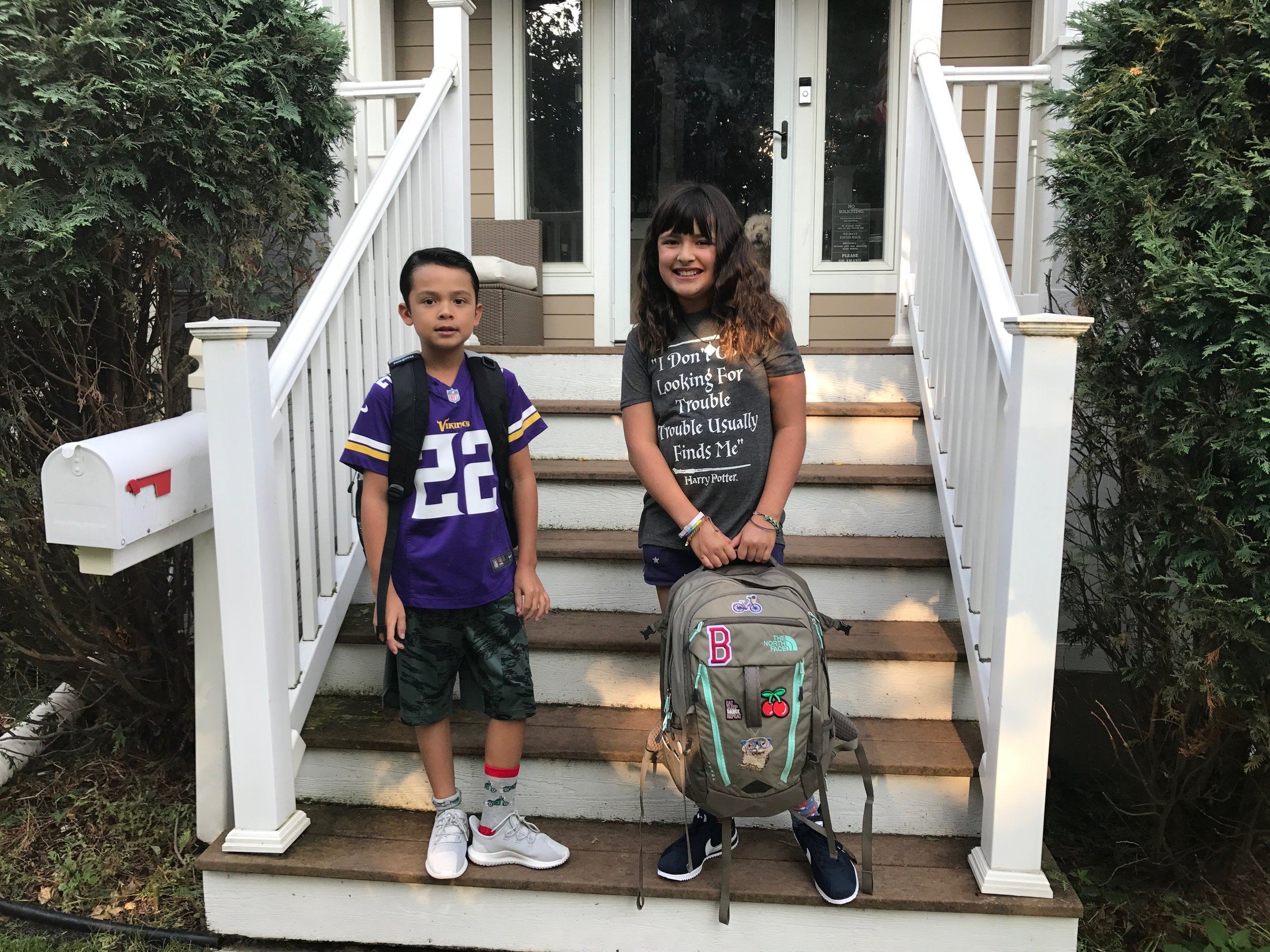 Picture of my kids on the first day of the 2017-2018 school year. We love our school!