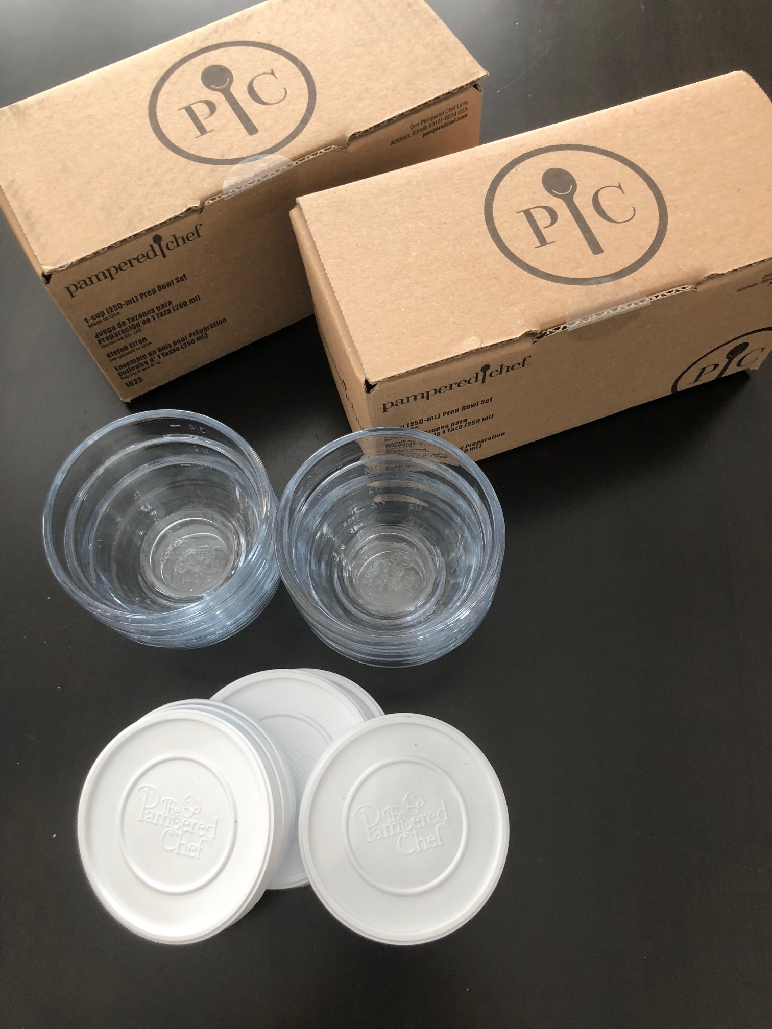 Six prep bowls come in a box. I bought four boxes.