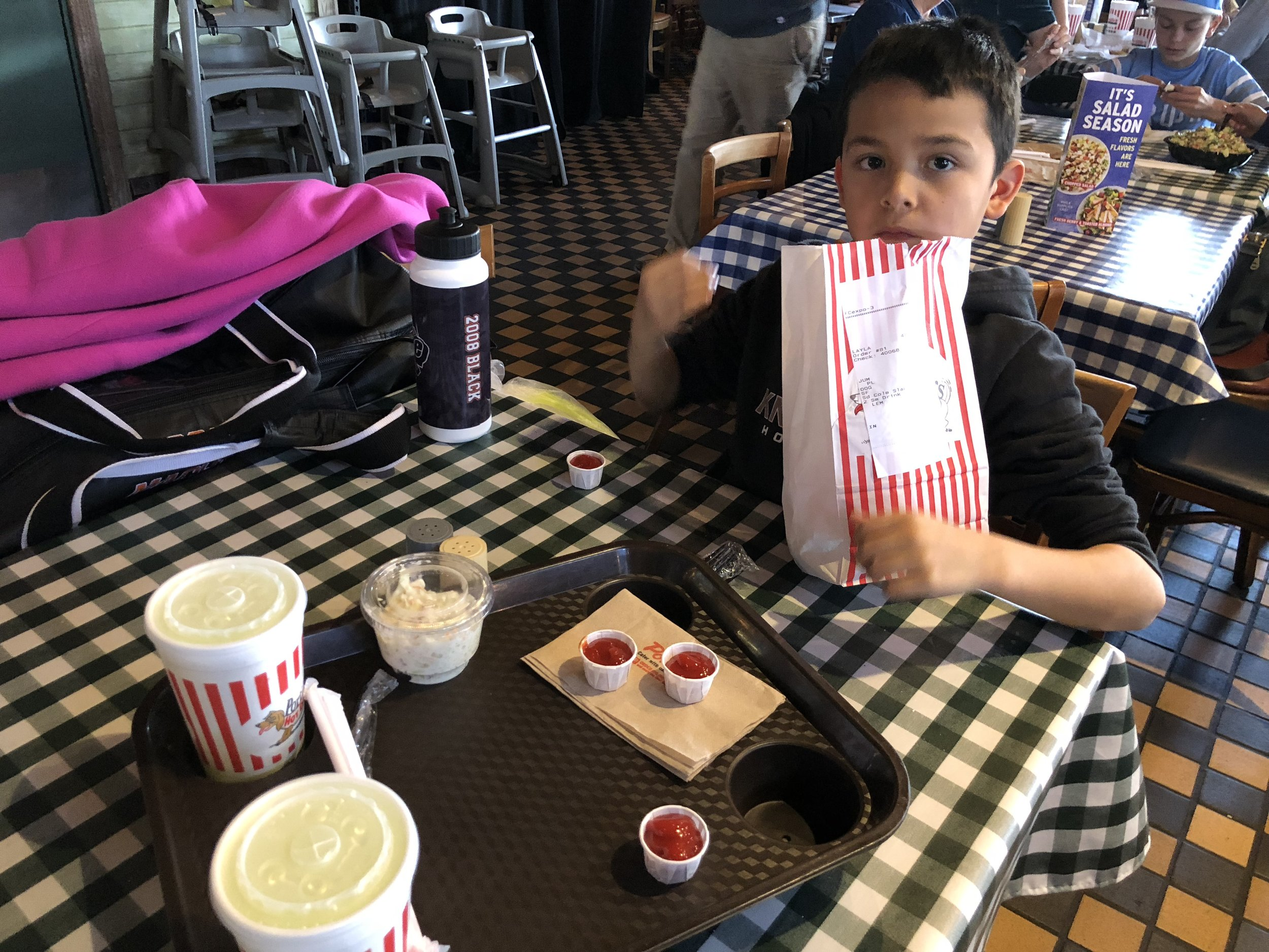 He didn't get to see downtown Chicago but I'm proud that I was at least able to introduce my son to Portillo's.