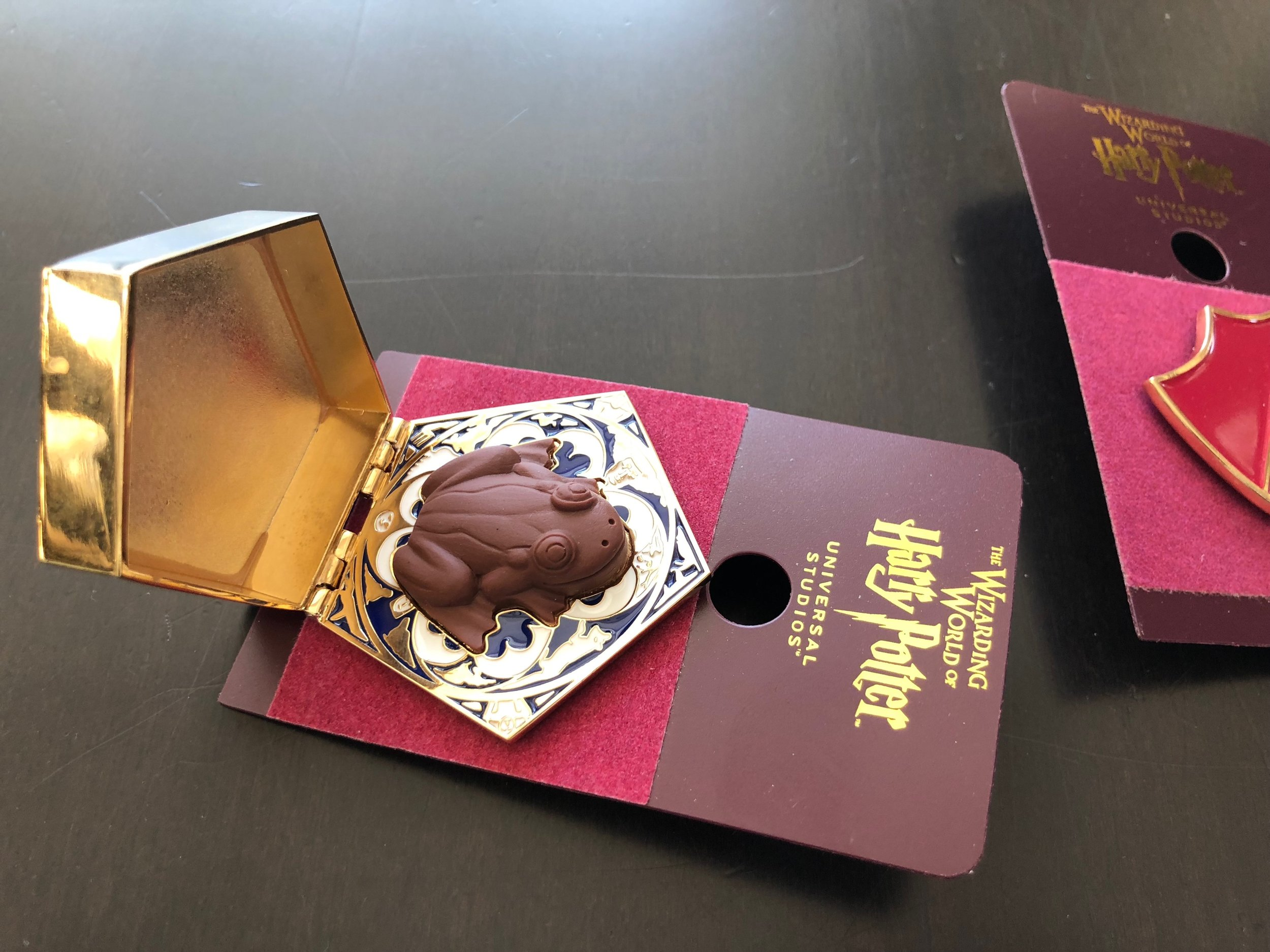 The chocolate frog even smells good! I made my daughter wait to give these to Sofia for her birthday (only a mere 7 weeks later). Souvenirs that double as a bday gift. Two birds, one stone = Cheapskate.