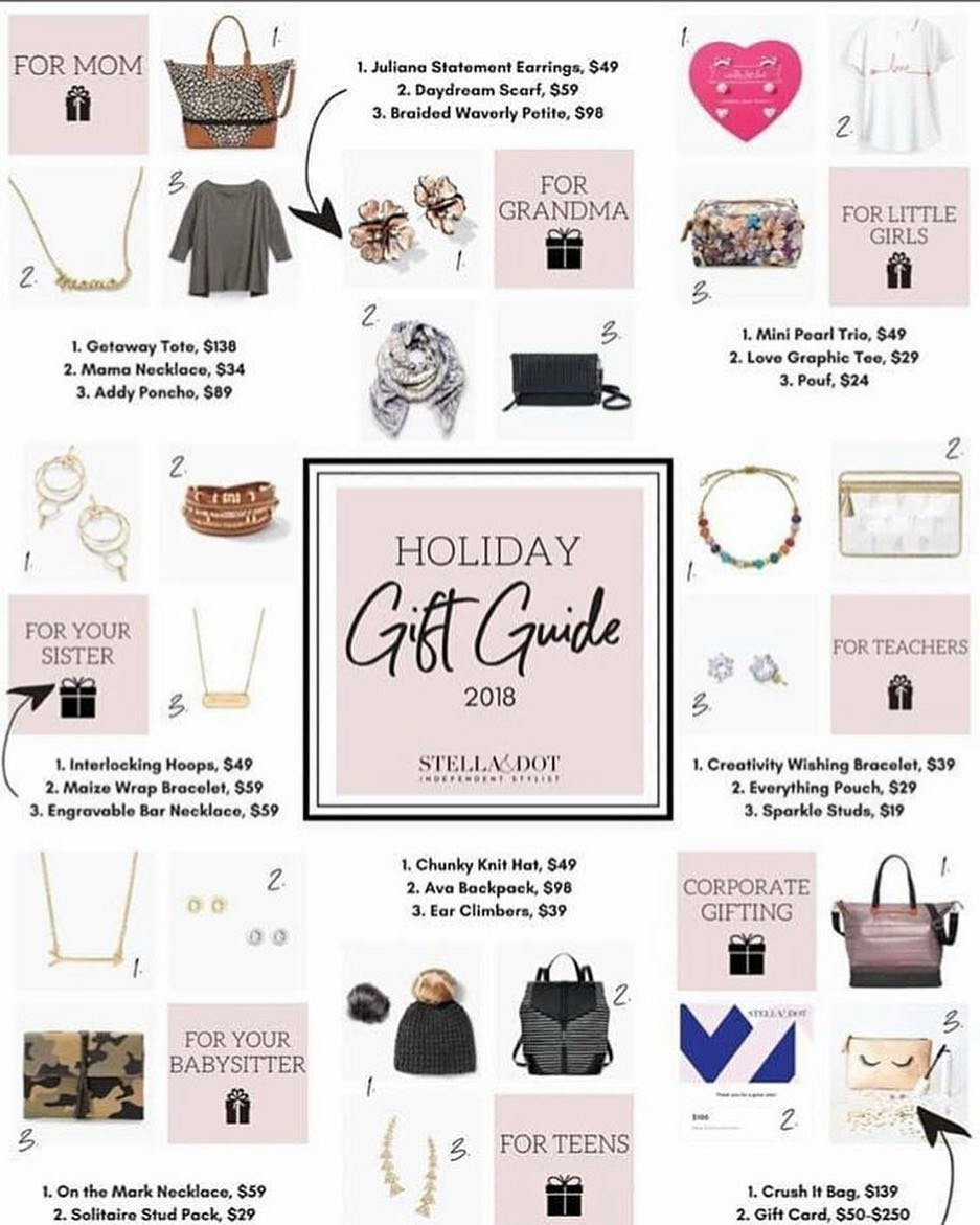 If you don't have your own Stella & Dot consultant, please consider clicking on the items below to be directed to  Wendy's site . The shipping deadline is 12/14/18 so decide what you're going to get soon!