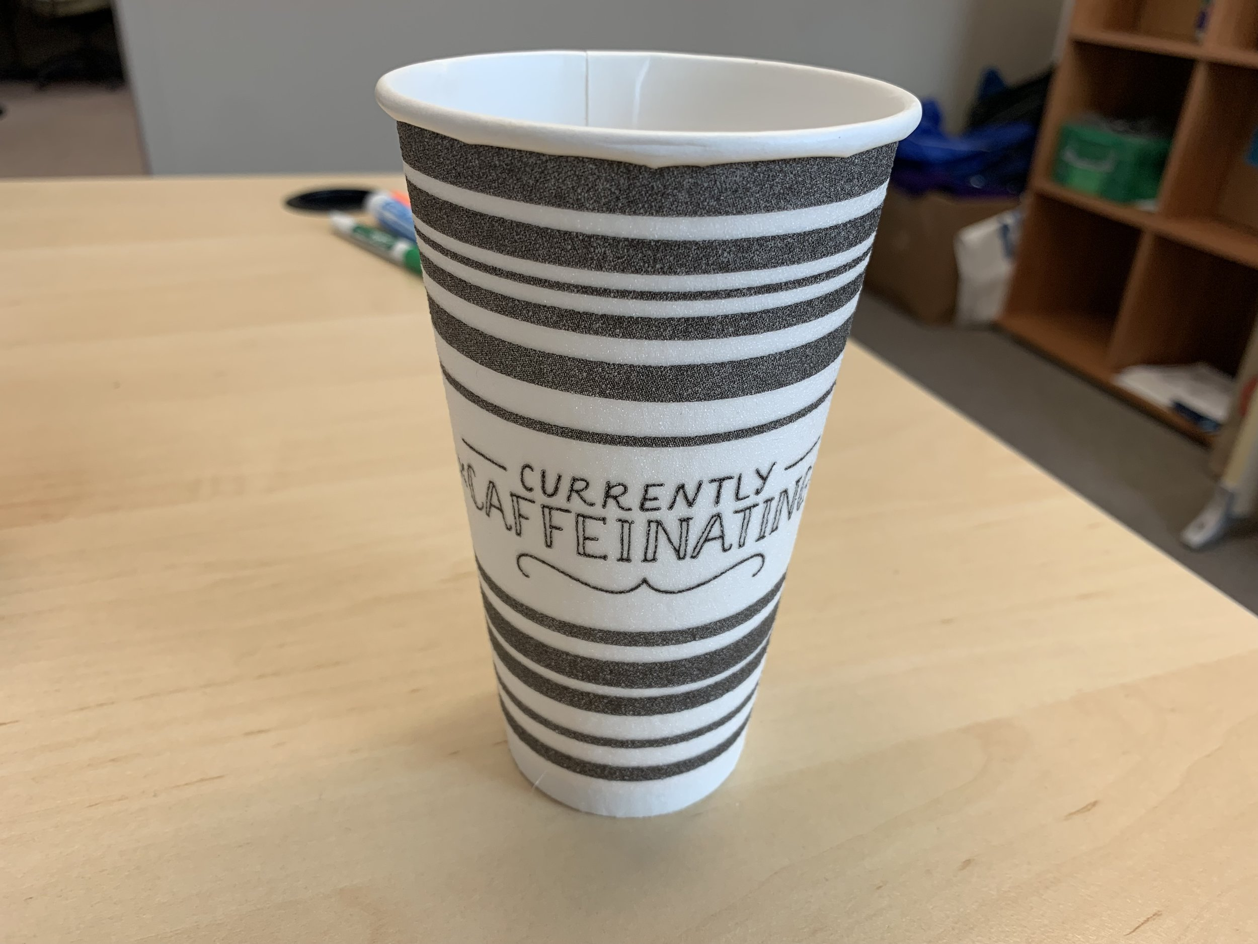 The styrofoam cups that I use while I'm in the office keeps everything warm or cold. They just don't ever breakdown in the landfills. I was using one of these cups per day at work. On mornings when I can plan ahead, I bring my cups from home. I need to plan more!