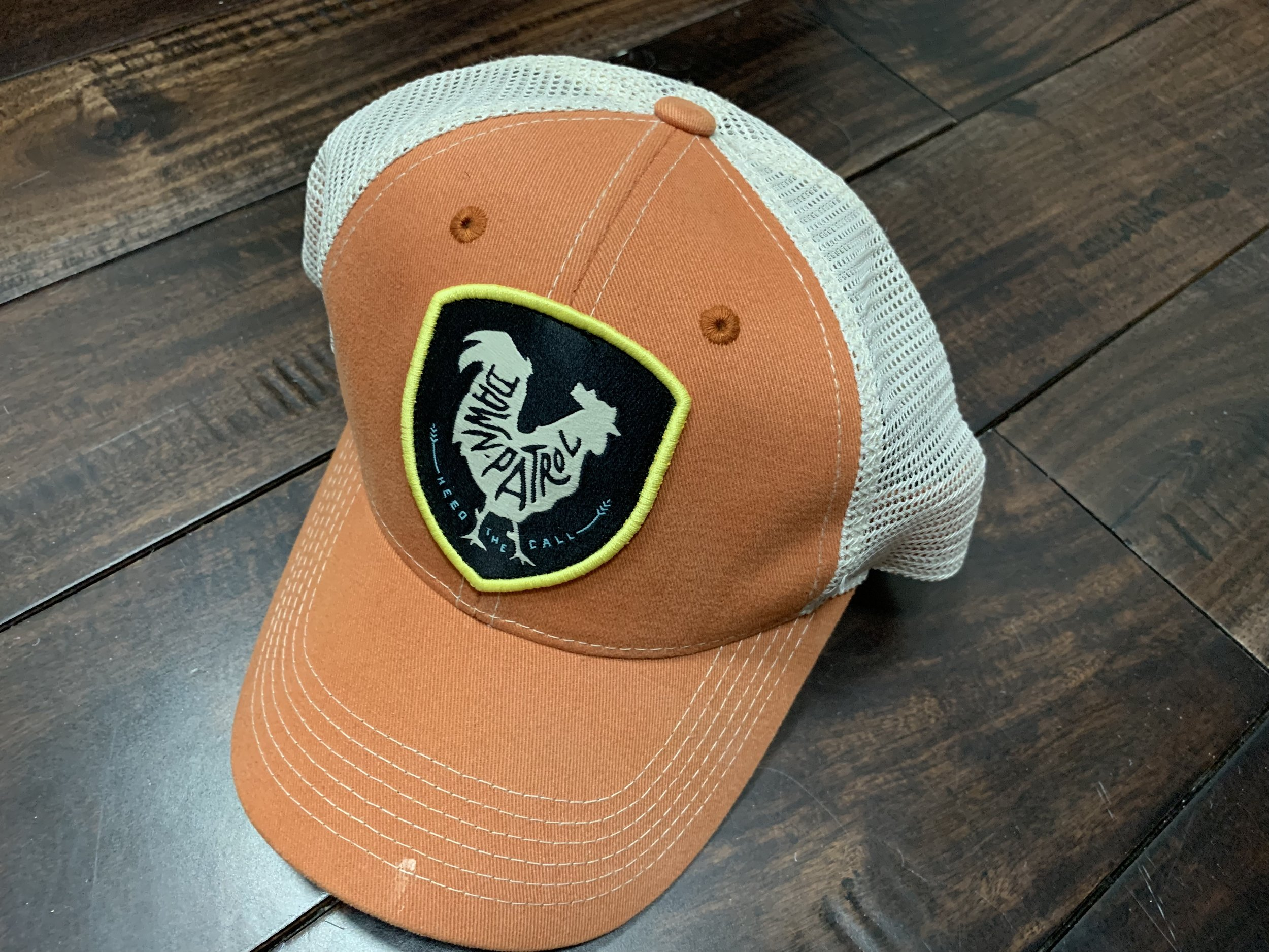 P.S. Someone bought this hat. The patch represents the group of surfers who surf at dawn in Costa Rica. No one in our family surfs at dawn in Costa Rica. I'm just saying.