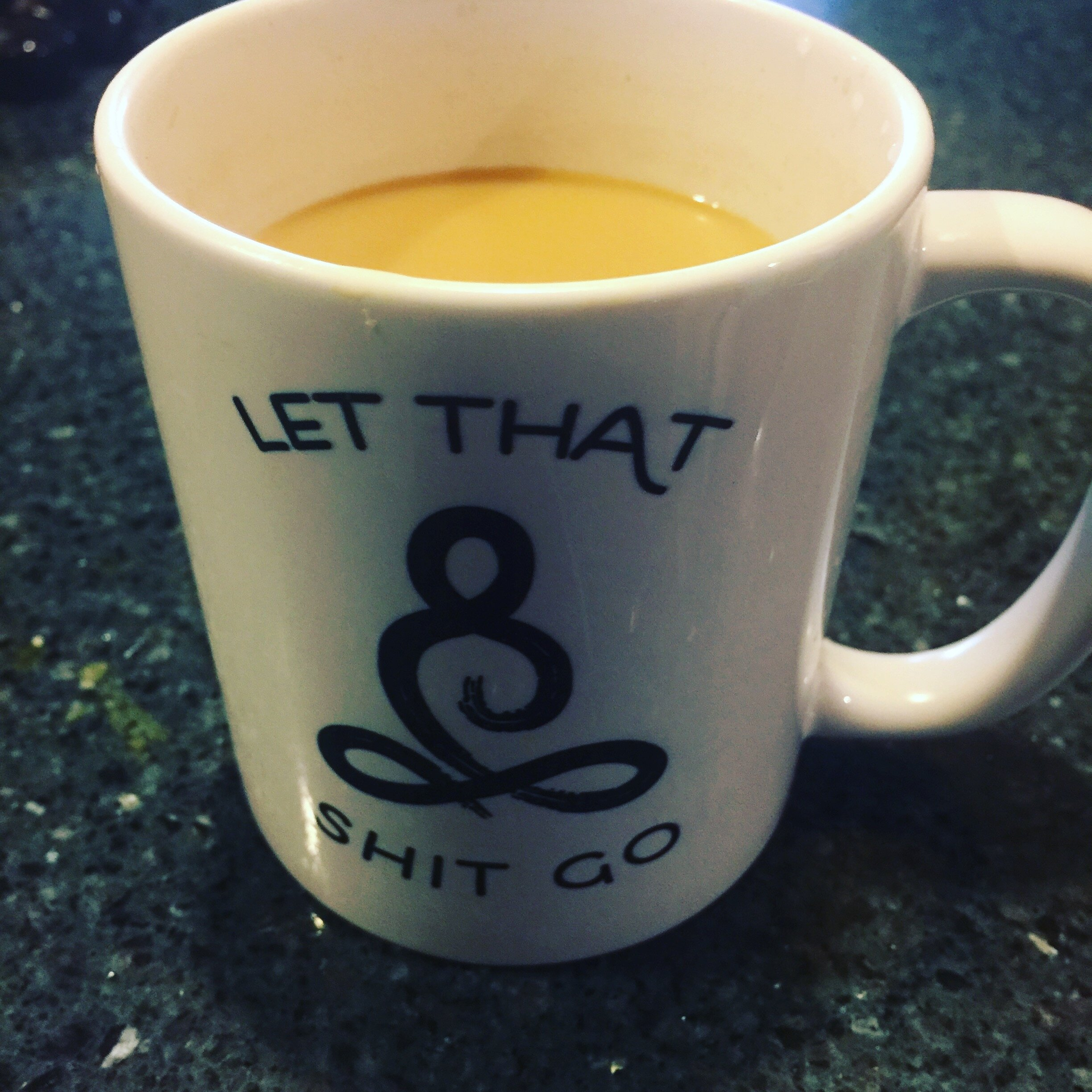 """My other cousin Patti shared with me that this is a special coffee re-lated gift from her husband. She was going thru a tough time, having lost her sister as well as having her own health and family issues. When he gave her this  pinch , it represented the message of what he had been saying all along, """"Life is short..let that shit go and move on."""""""