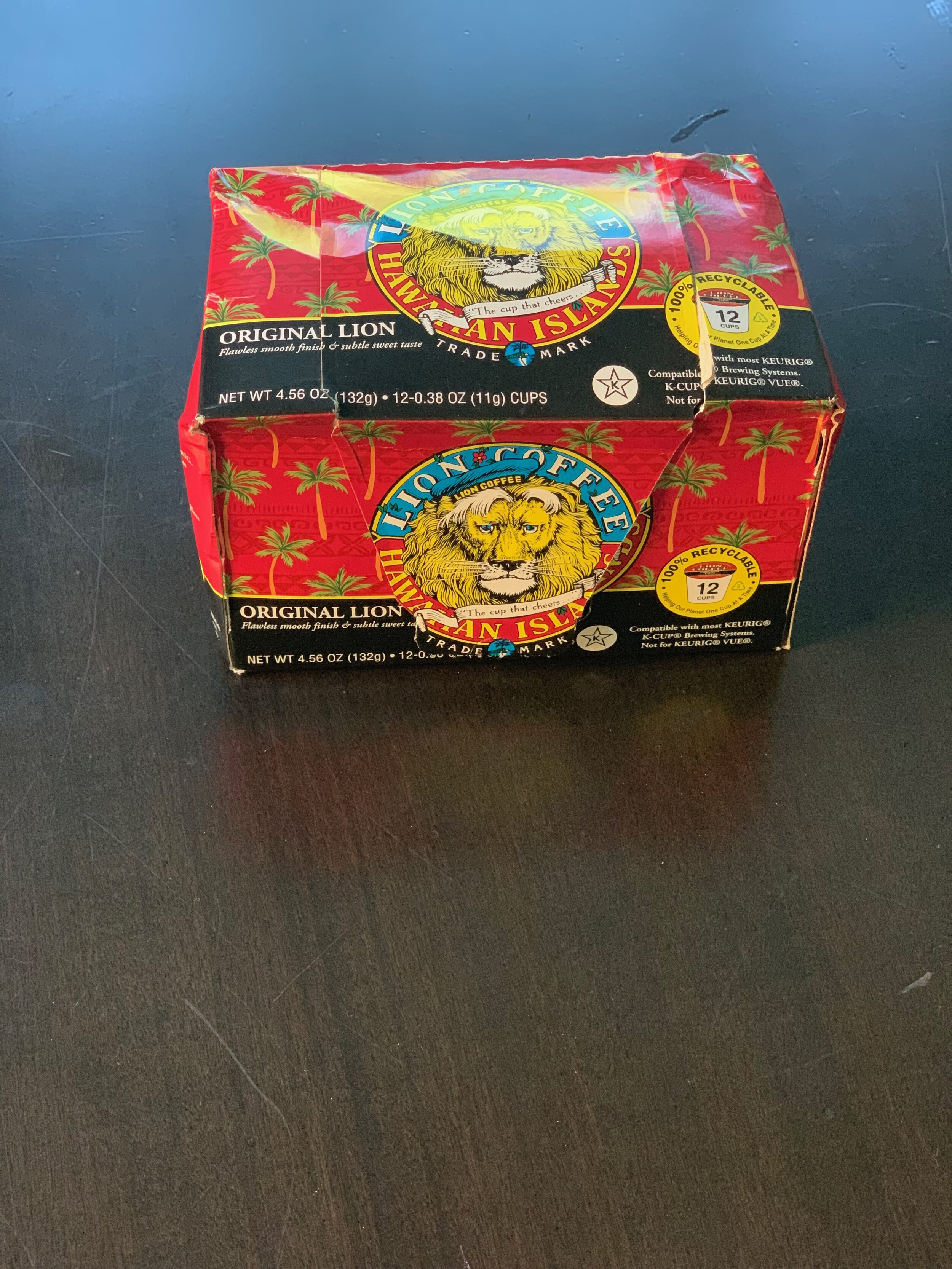 This  pinch  was part of a large care package from Hawaii. Coffee pods of Hawaiian coffee made for Keurig-type machines.