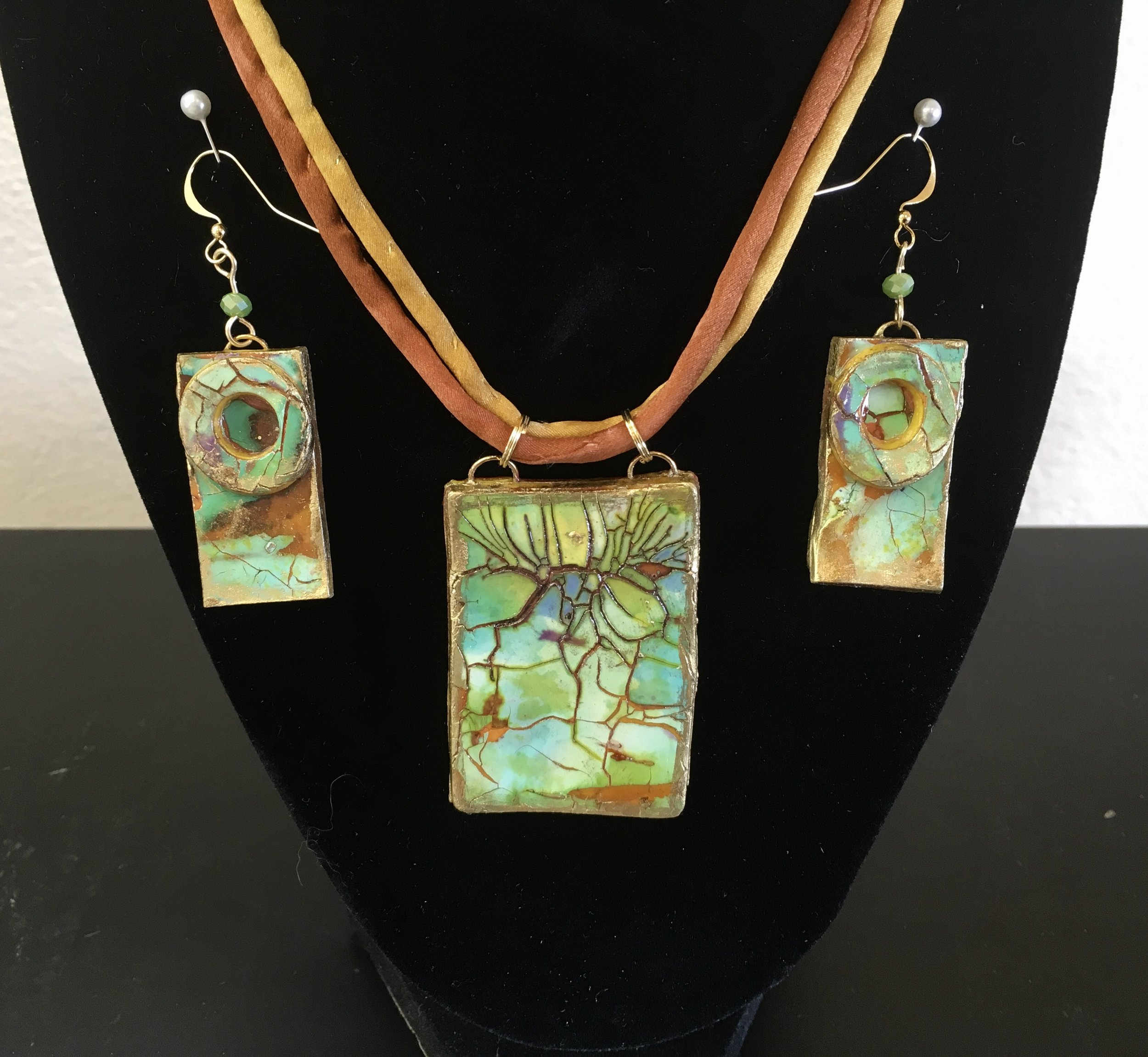 Polymer clay necklaces & earrings -
