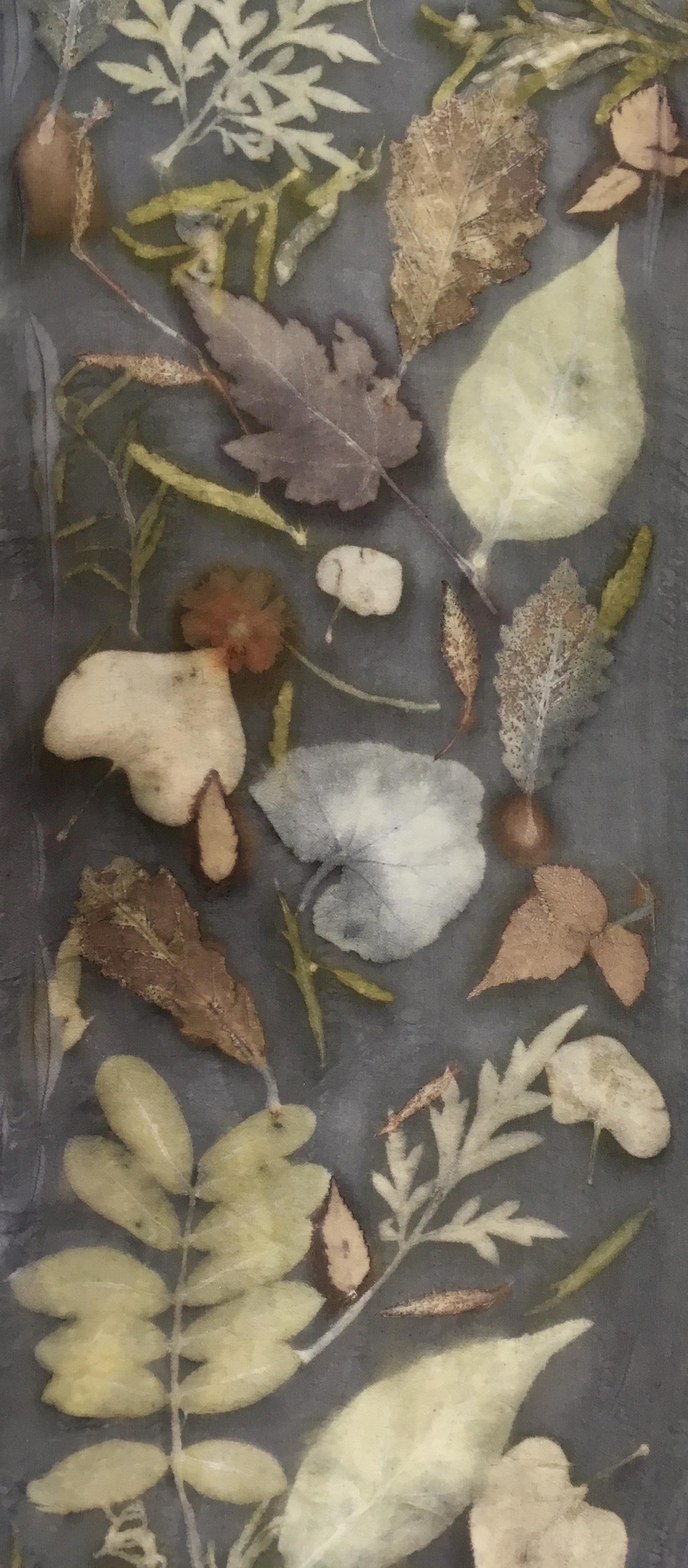 Botanical print silk scarves -