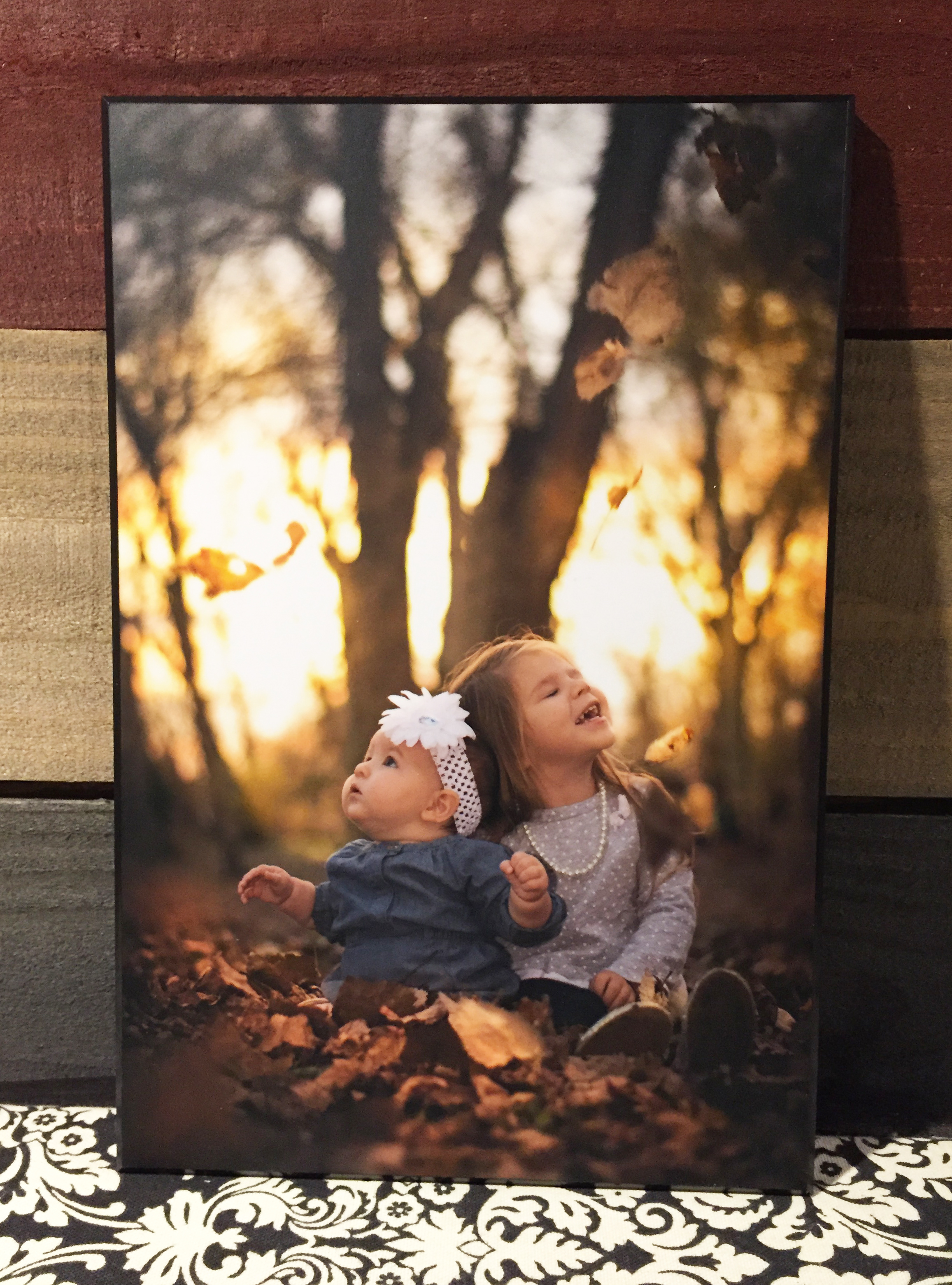 Plaque mounted photo with a clear yet soft matte finish
