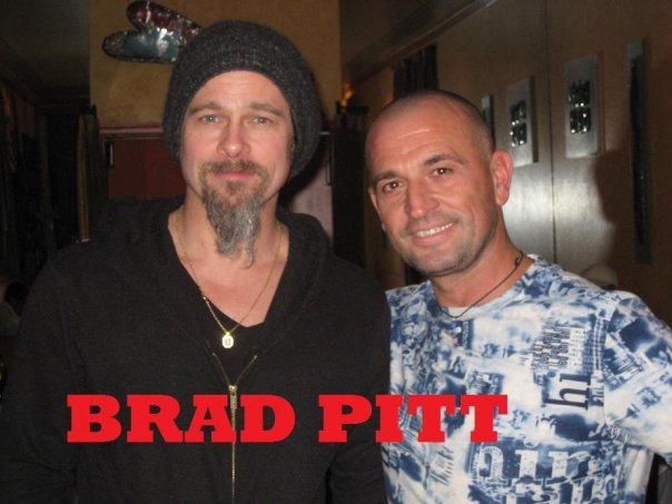 Brad Pitt & Lorenzo Logoreci @ Allegro Romano