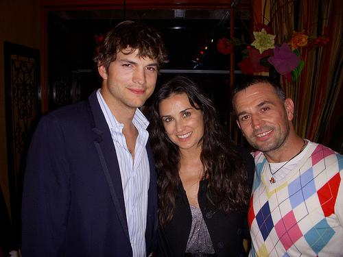 Demi Moore,Ashton Kutcher & Lorenzo Logoreci @ Allegro Romano