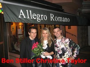 Ben Stiller and Christine Taylor and Lorenzo Logoreci @ Allegro
