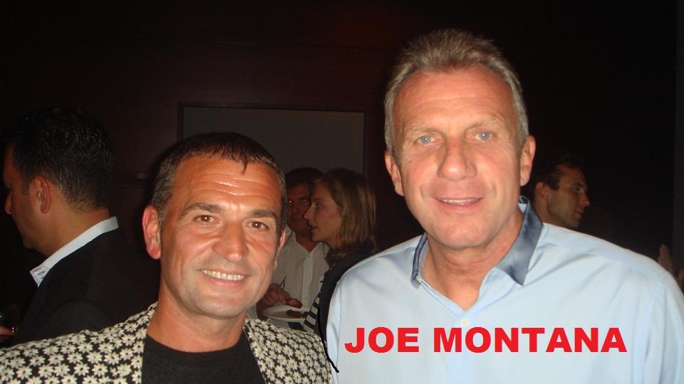 Joe Montana and Lorenzo Logoreci