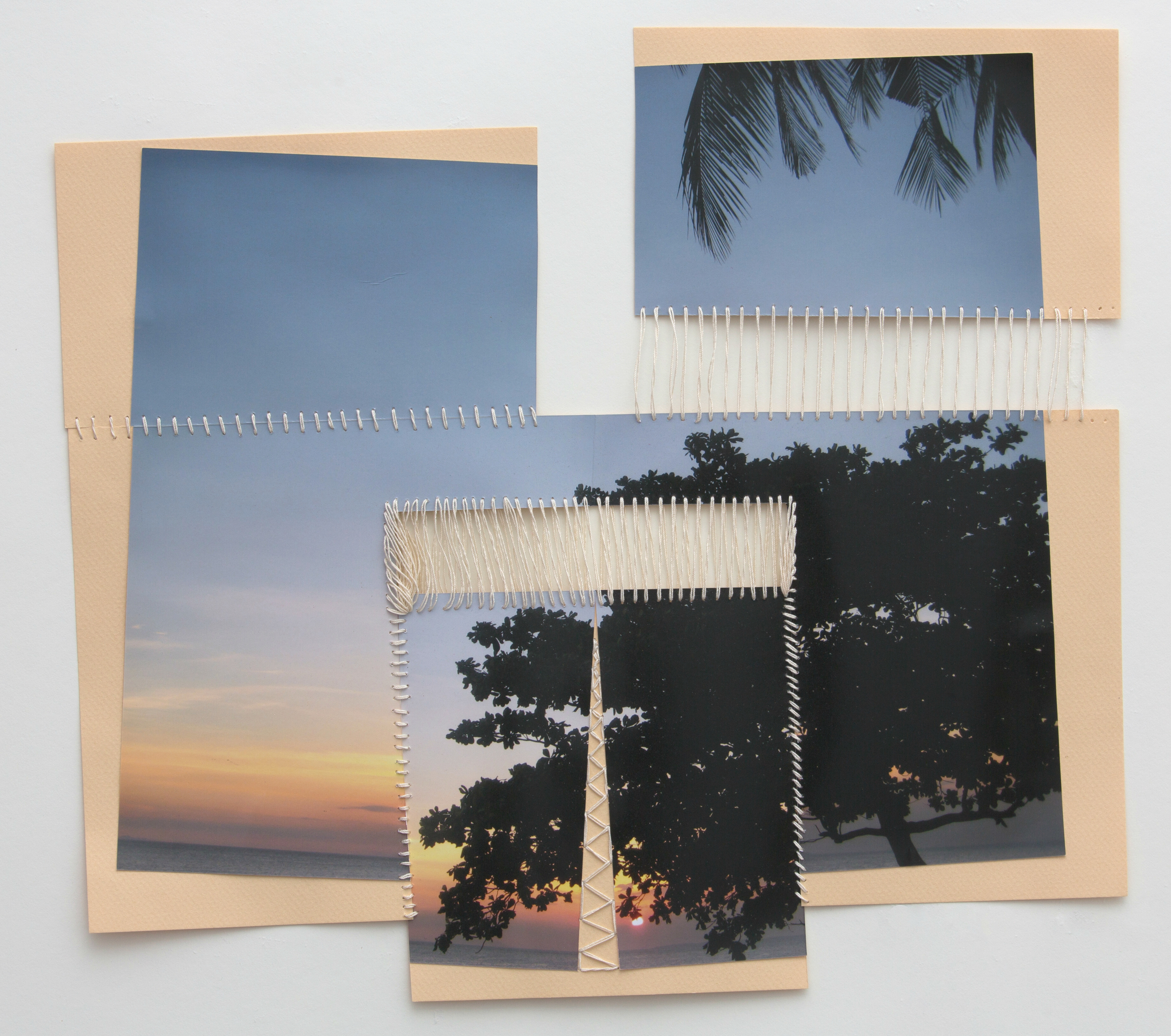 paper 18 ,2014  photograph, thread  14 x 16 inches