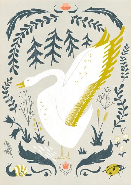 Wild Goose Book Plate - by Angela Keoghan