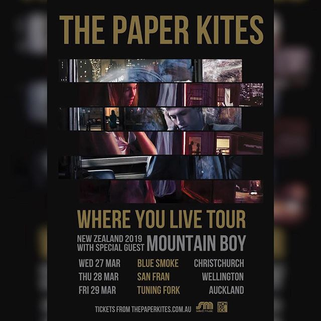 Very happy to announce that I will be joining @thepaperkites on their New Zealand tour in March! 🎸