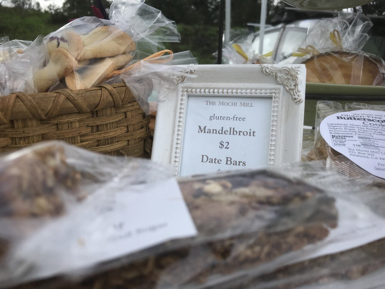 delicious cakes, pastries, breads and crackers
