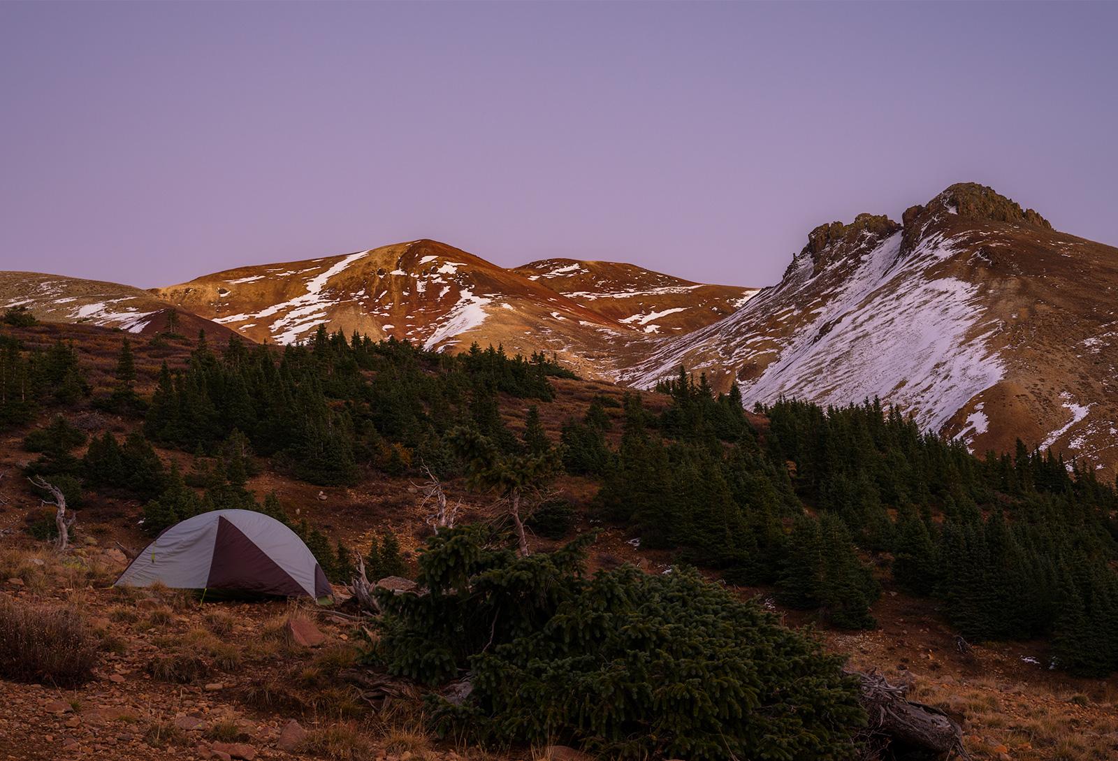 High camp, at Wetterhorn Basin.