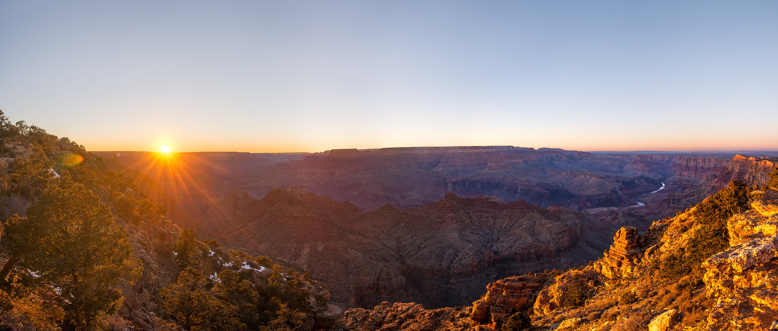 Sunset from Desert View on the South Rim of the Grand Canyon.