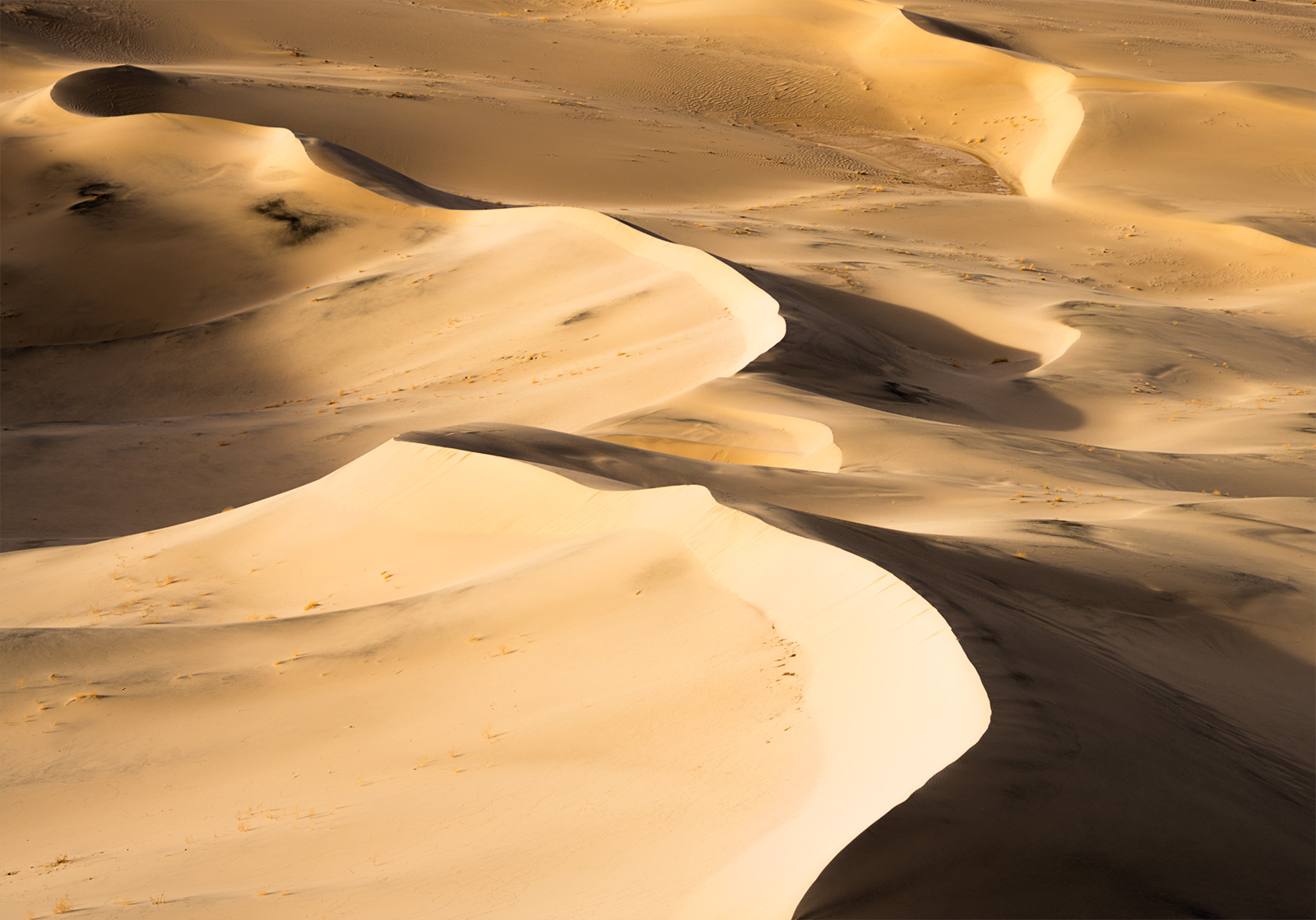 Eureka Shadows -Some shadow interplay at Eureka Valley, Death Valley.