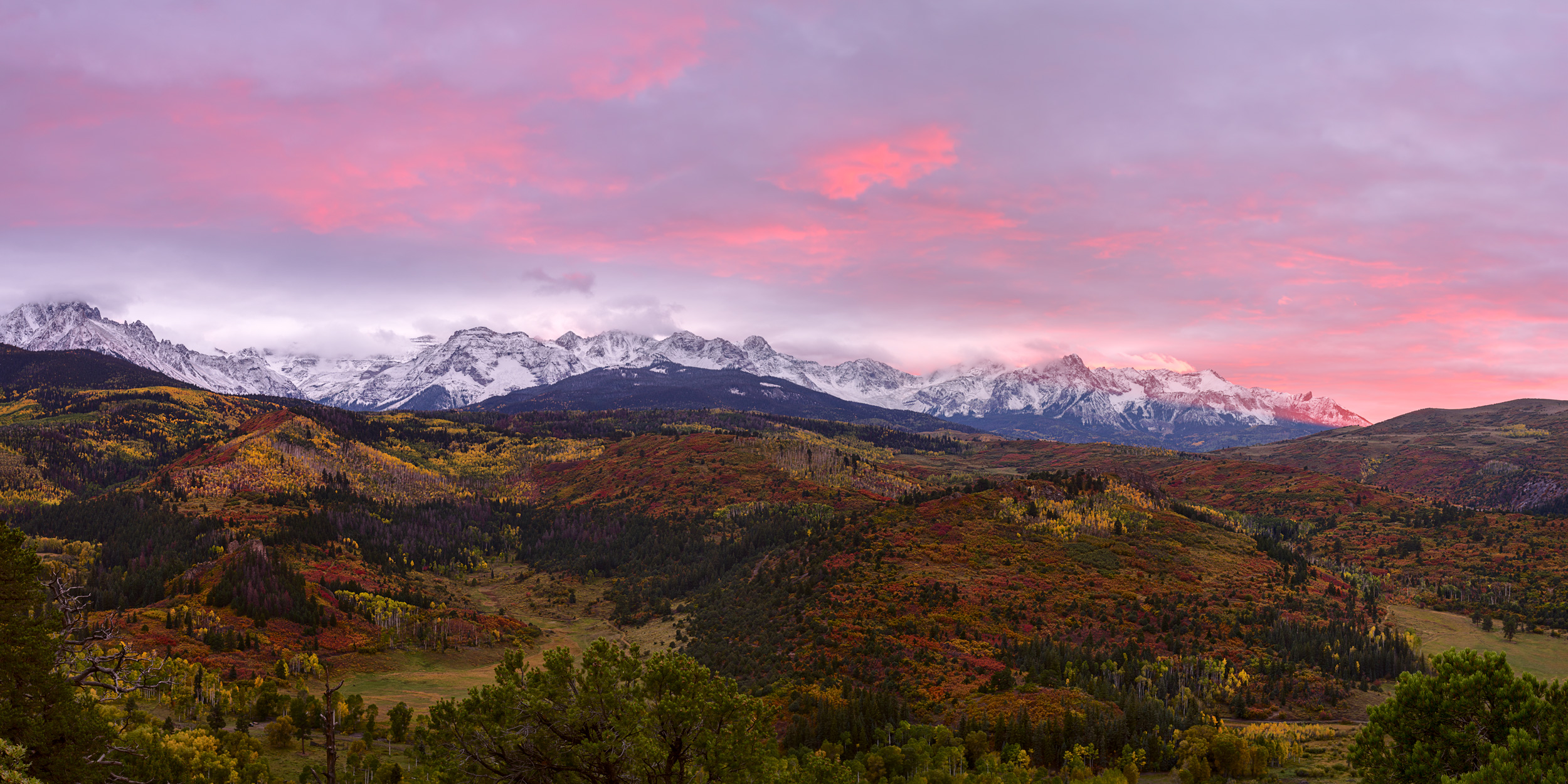 Sunset over the Dallas Divide