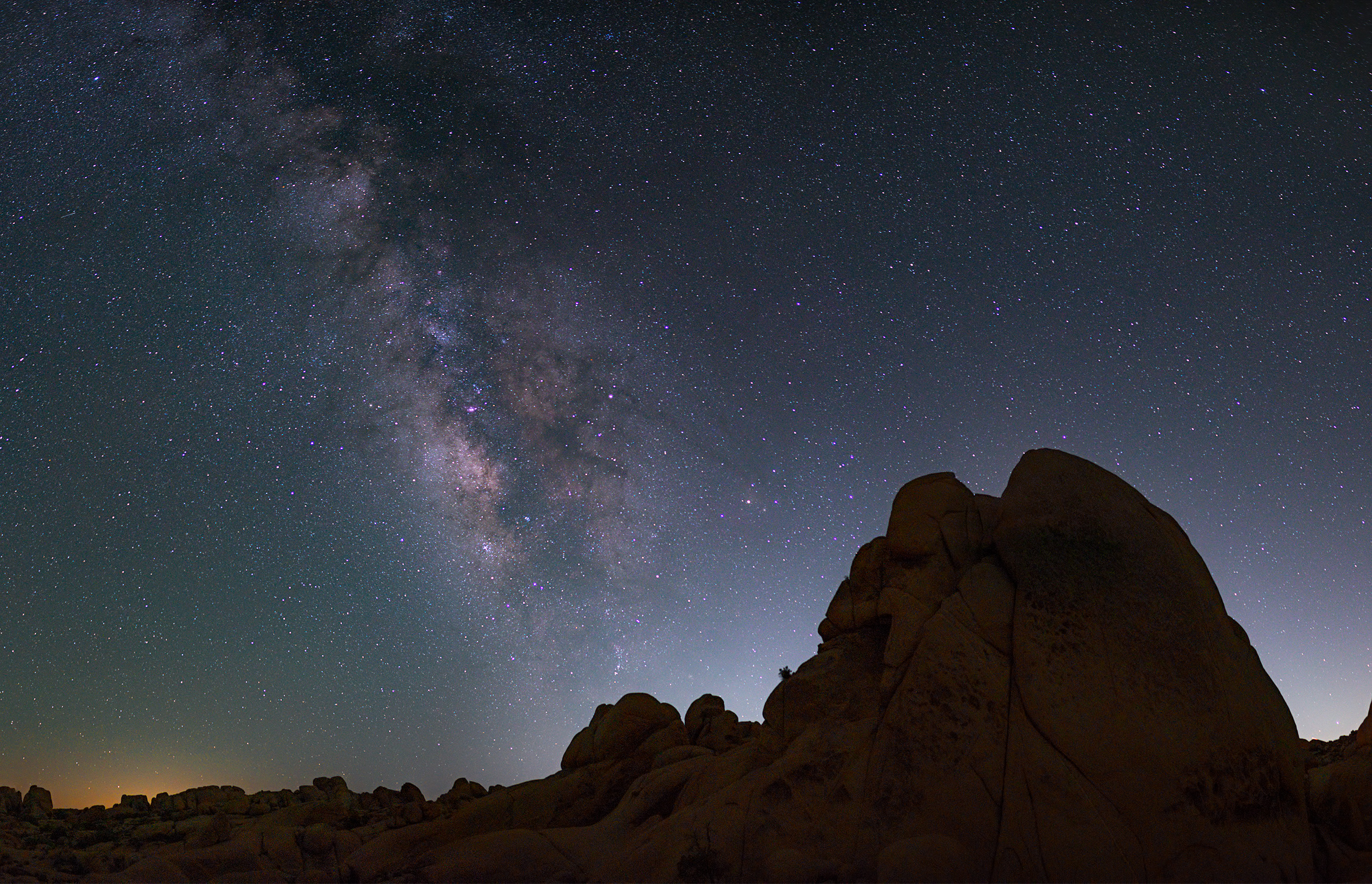 Temple Rock with the Milky Way.