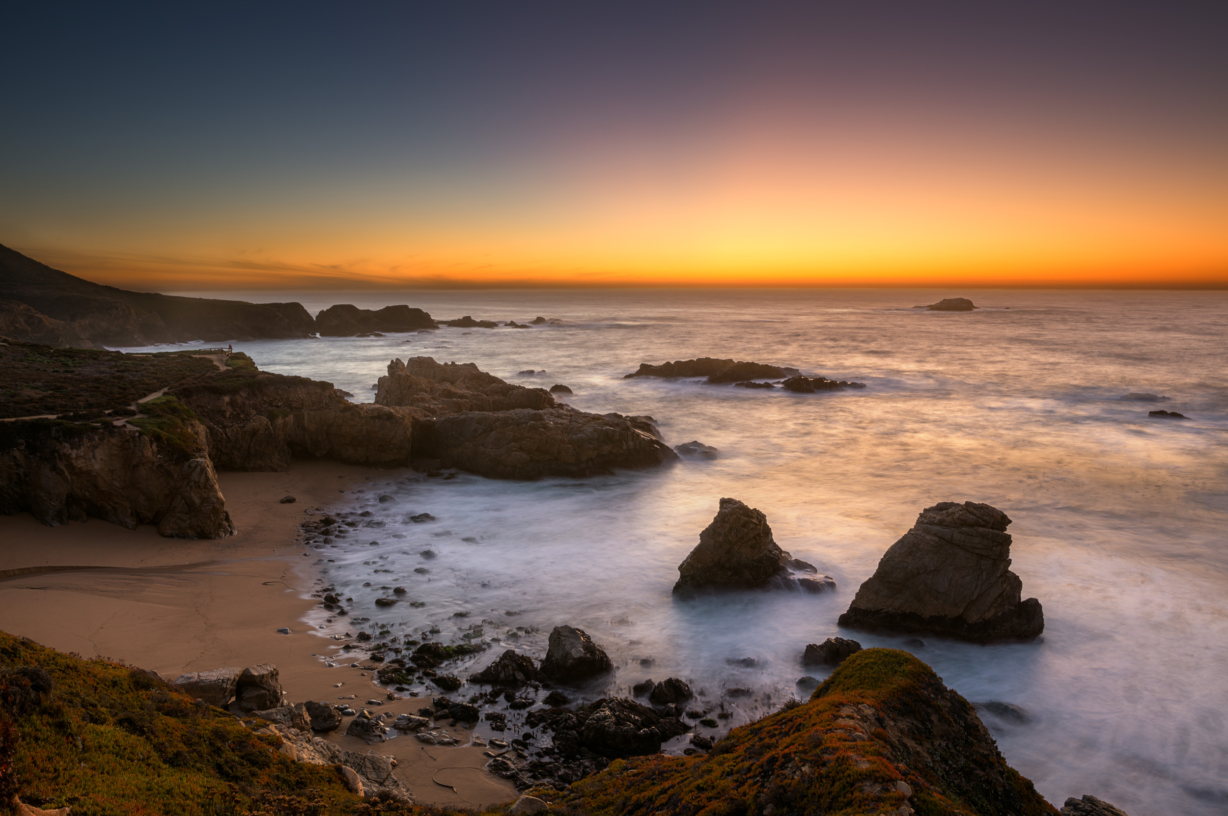 Garrapata State Park, just after sunset.