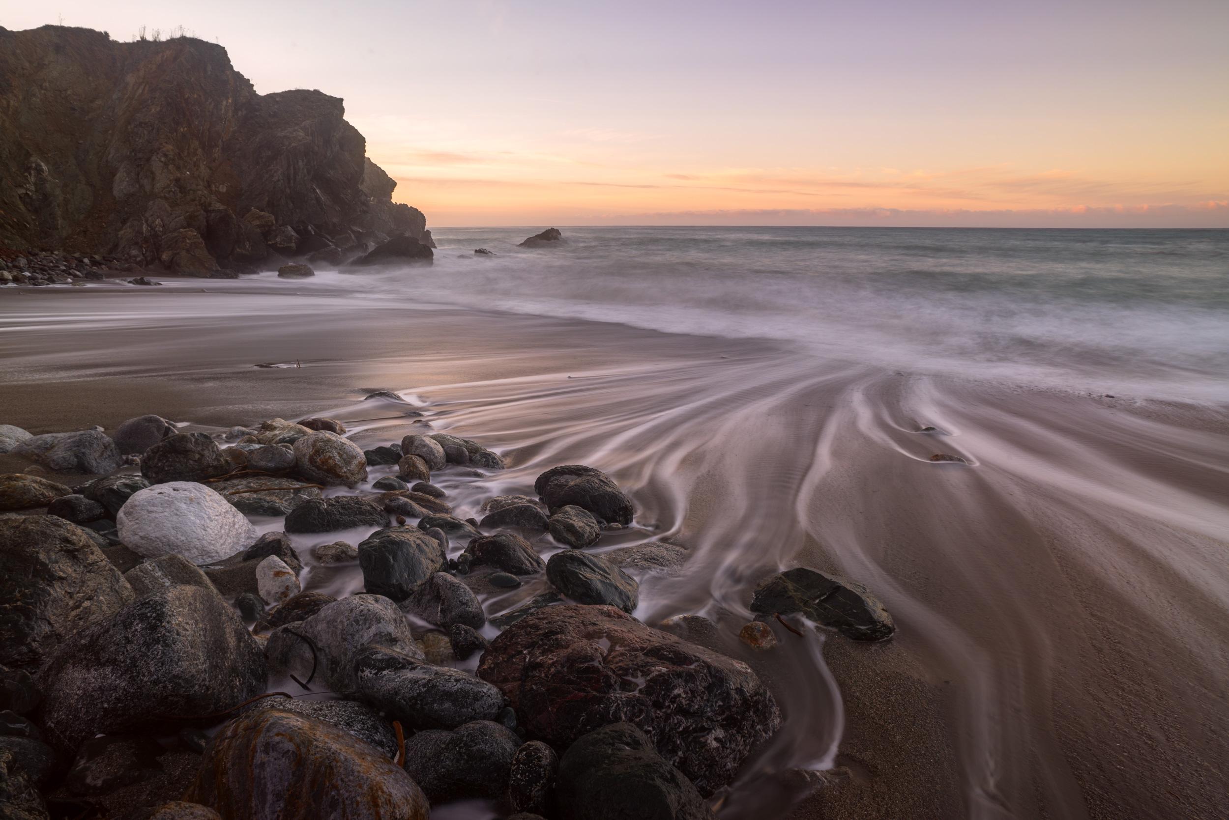 Moving tide at Limeklin State Park, Big Sur.