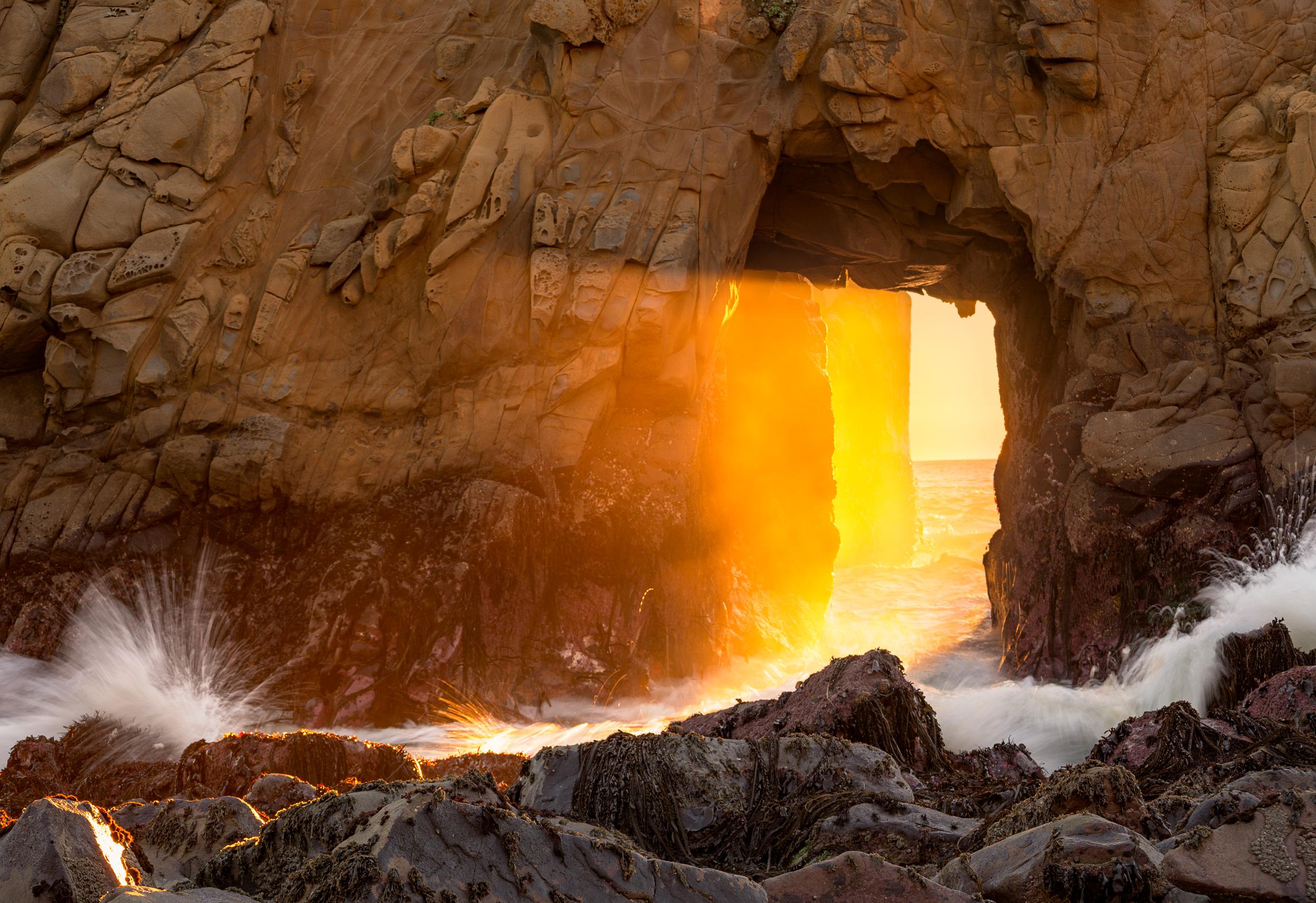 Sunset through the Keyhole, at Pfeiffer Beach.