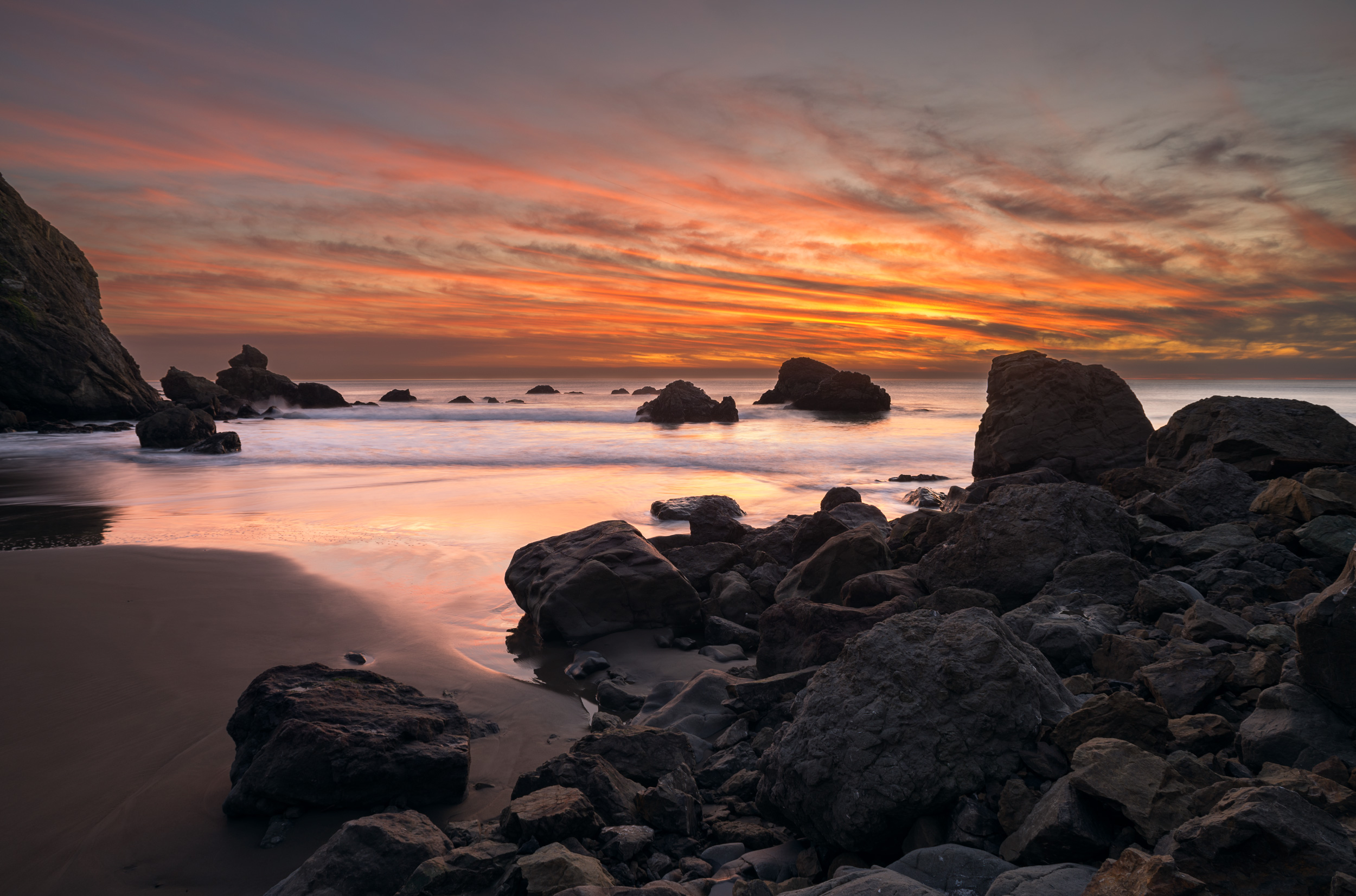 Sunset at Pirates Cove, Golden Gate National Recreation Area
