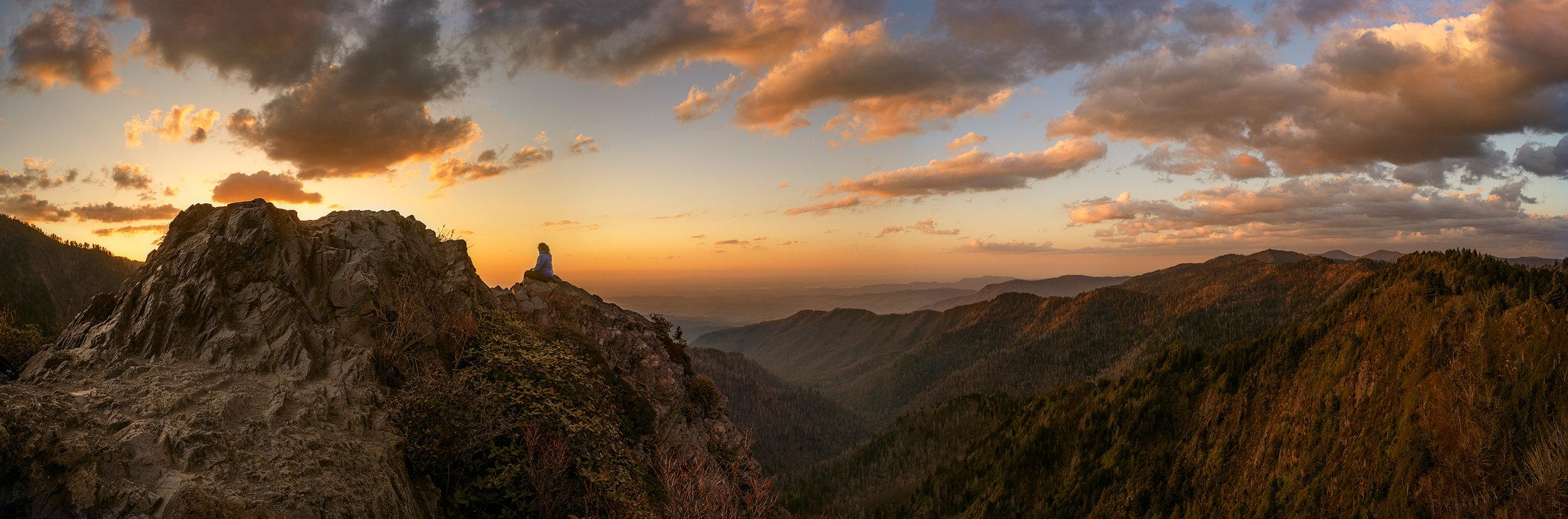 Charlies Bunion on the Appalachian Trail, Smokey Mountains National Park.