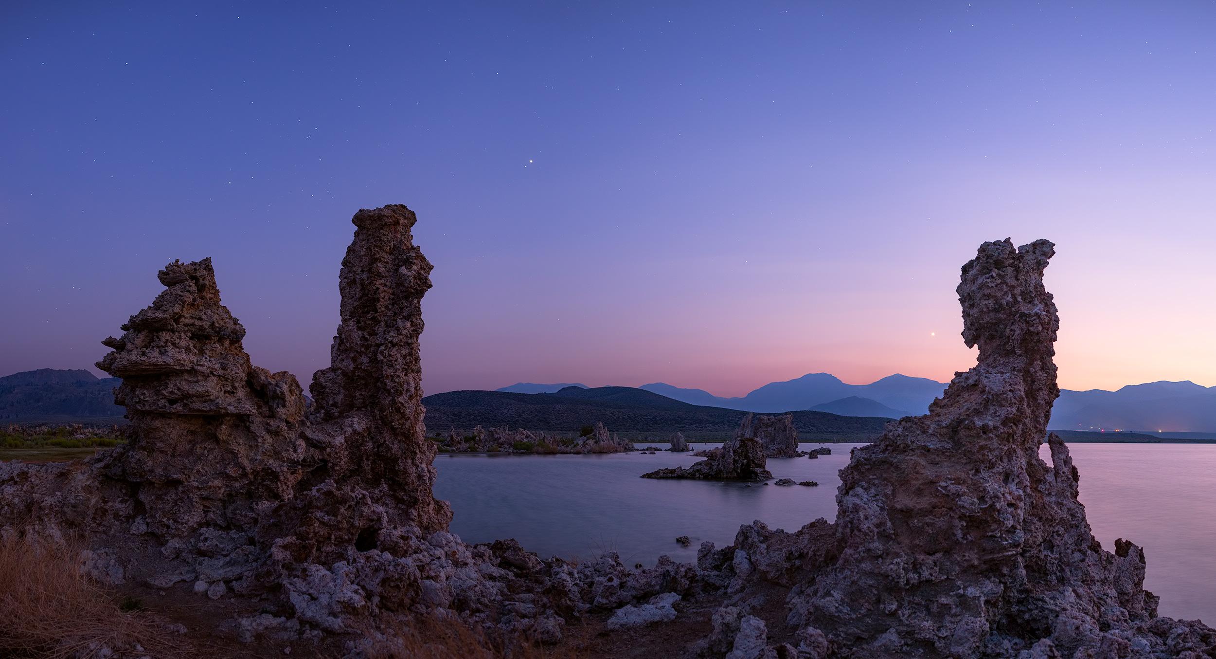 South Tufa at Mono Lake, at blue hour.