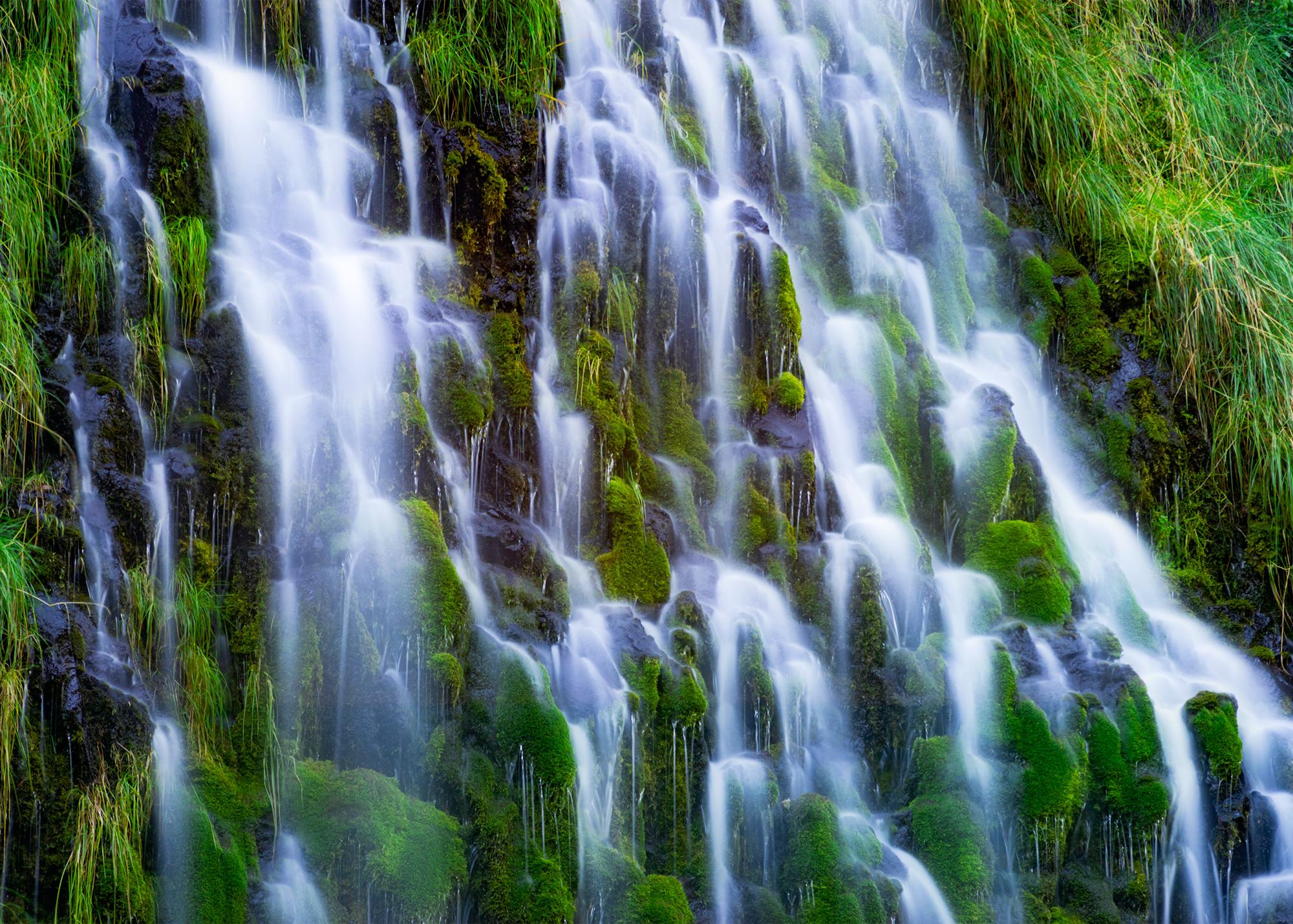 Long Exposure of Mossbrae Falls in the Shasta Cascade area in Dunsmuir, California.